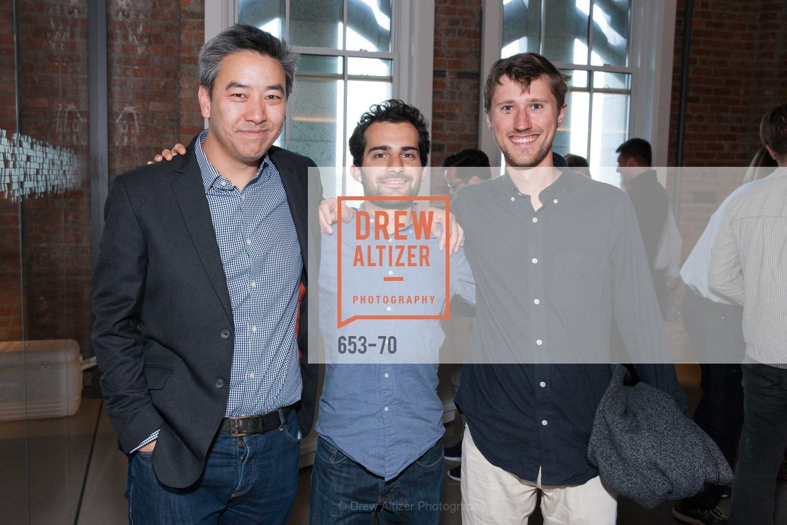 James Cham, Jonah Varon, Axel Hansen, Bloomberg Tech Hosts New San Francisco Office Opening Party, 140 Montgomery Street, May 6th, 2015,Drew Altizer, Drew Altizer Photography, full-service agency, private events, San Francisco photographer, photographer california