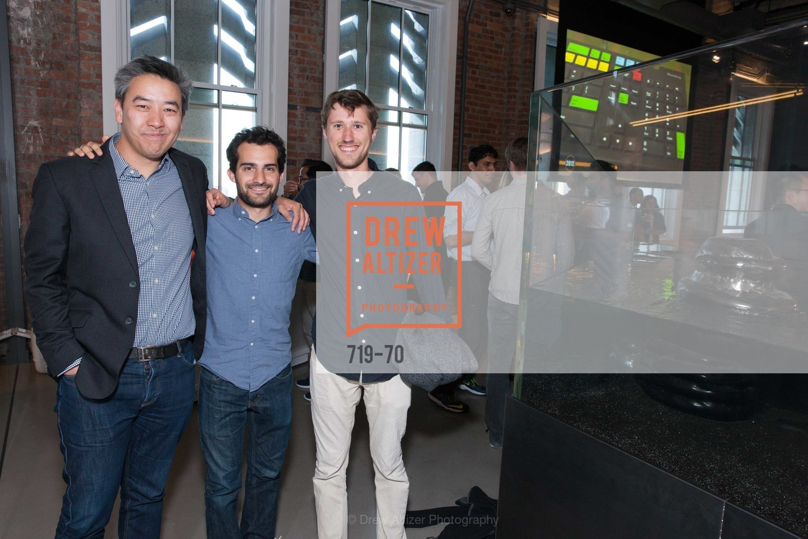 James Cham, Jonah Varon, Axel Hansen, Bloomberg Tech Hosts New San Francisco Office Opening Party, 140 Montgomery Street, May 6th, 2015,Drew Altizer, Drew Altizer Photography, full-service event agency, private events, San Francisco photographer, photographer California