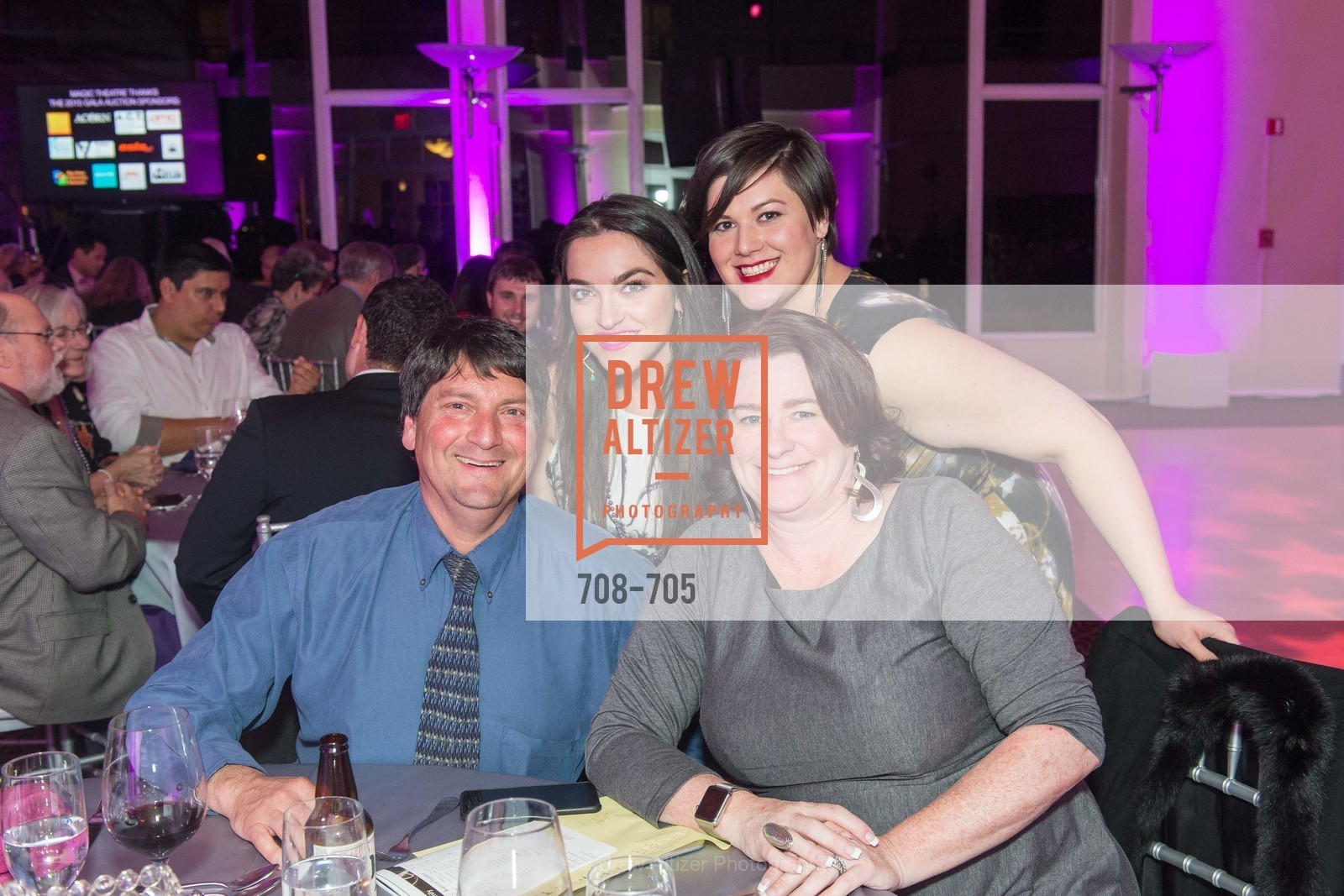 Hanz Saier, Marilee Saier, Lindsay Saier, Gabrielle Pizarro, MAGIC THEATRE'S 2015 Gala:  A Night of Magic, US, May 7th, 2015,Drew Altizer, Drew Altizer Photography, full-service agency, private events, San Francisco photographer, photographer california