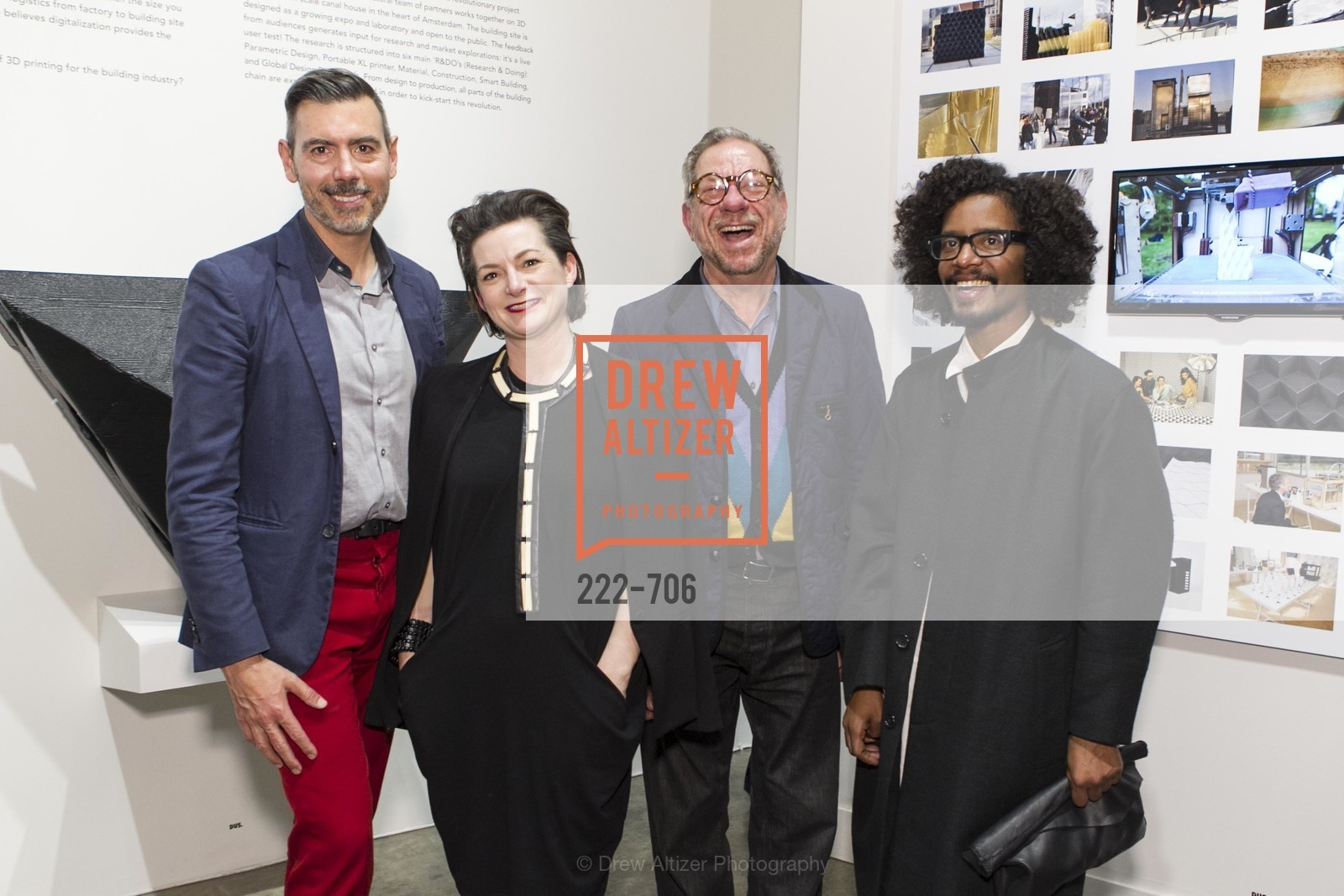 John Macy, Alisa Carroll, Gary Hutton, Yani Alexi Dominguez, Exhibit Opening at the MUSEUM OF CRAFT AND DESIGN - Hands Off: New Dutch Design at the Confluence of Technology & Craft, US, May 8th, 2015,Drew Altizer, Drew Altizer Photography, full-service agency, private events, San Francisco photographer, photographer california