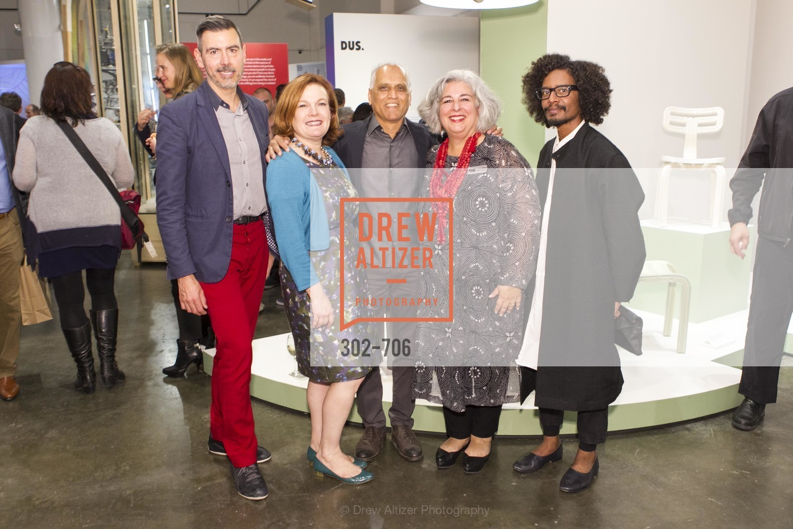 John Macy, Jennifer Raiser, Zahid Sardar, JoAnn Edwards, Yani Alexi Dominguez, Exhibit Opening at the MUSEUM OF CRAFT AND DESIGN - Hands Off: New Dutch Design at the Confluence of Technology & Craft, US, May 7th, 2015,Drew Altizer, Drew Altizer Photography, full-service agency, private events, San Francisco photographer, photographer california