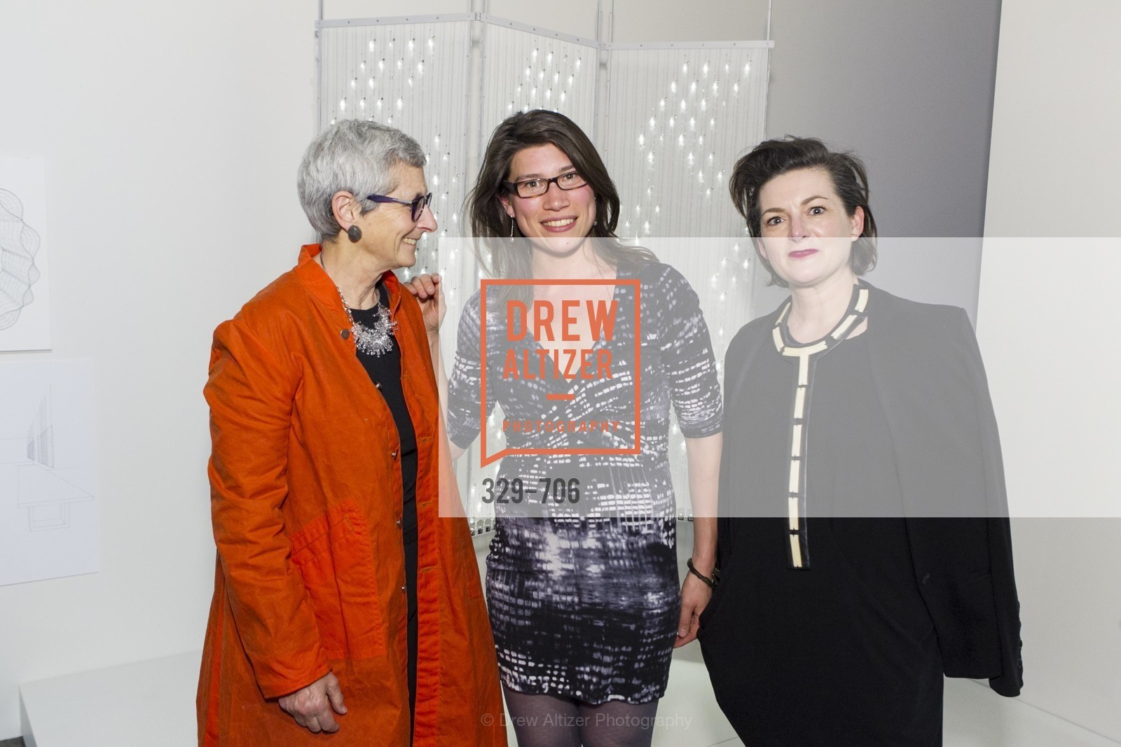 Marion Brenner, Aoife Wullur, Alisa Carroll, Exhibit Opening at the MUSEUM OF CRAFT AND DESIGN - Hands Off: New Dutch Design at the Confluence of Technology & Craft, US, May 8th, 2015,Drew Altizer, Drew Altizer Photography, full-service agency, private events, San Francisco photographer, photographer california