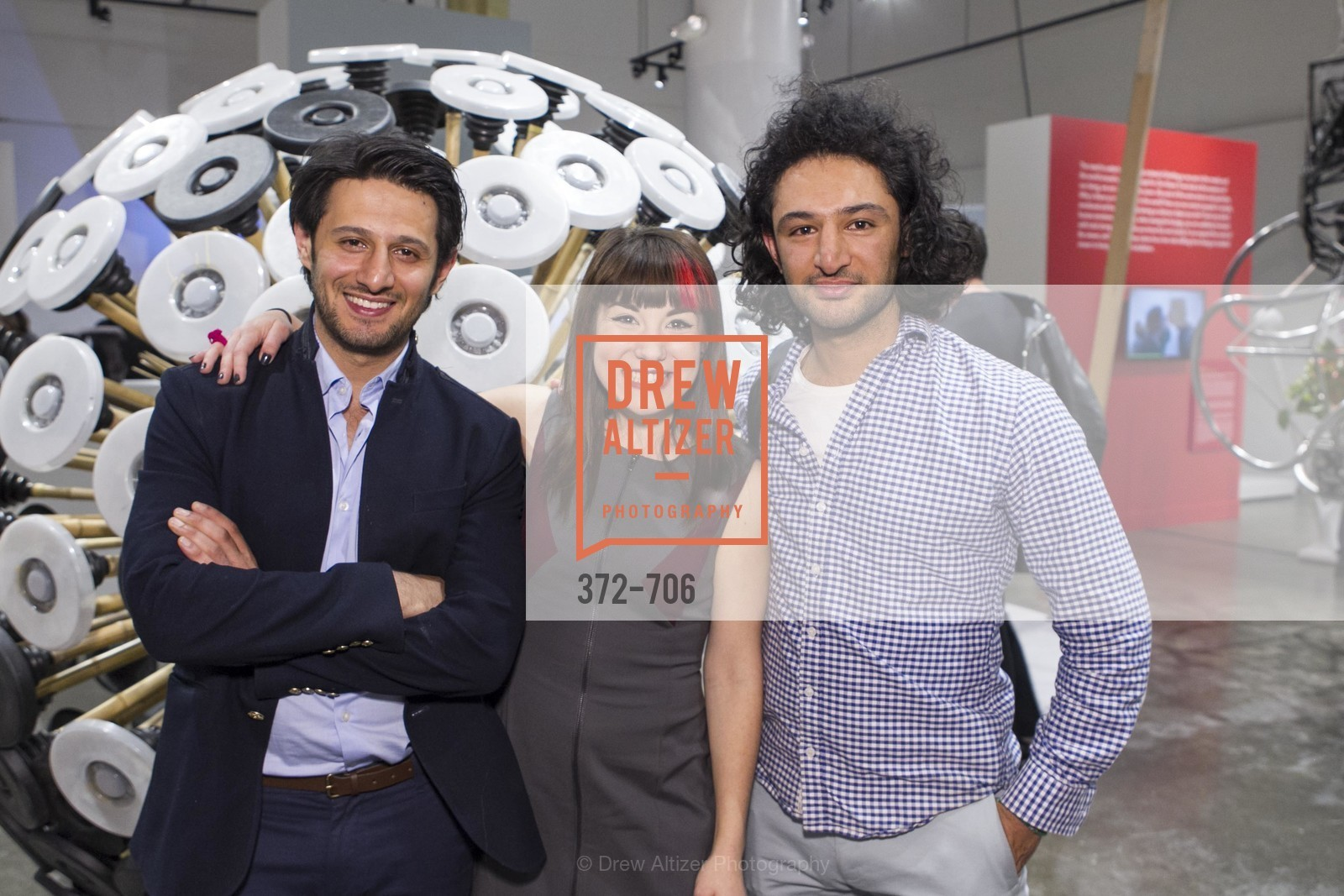 Mahmud Hassani, Ariel Zaccheo, Massoud Hassani, Exhibit Opening at the MUSEUM OF CRAFT AND DESIGN - Hands Off: New Dutch Design at the Confluence of Technology & Craft, US, May 8th, 2015,Drew Altizer, Drew Altizer Photography, full-service agency, private events, San Francisco photographer, photographer california
