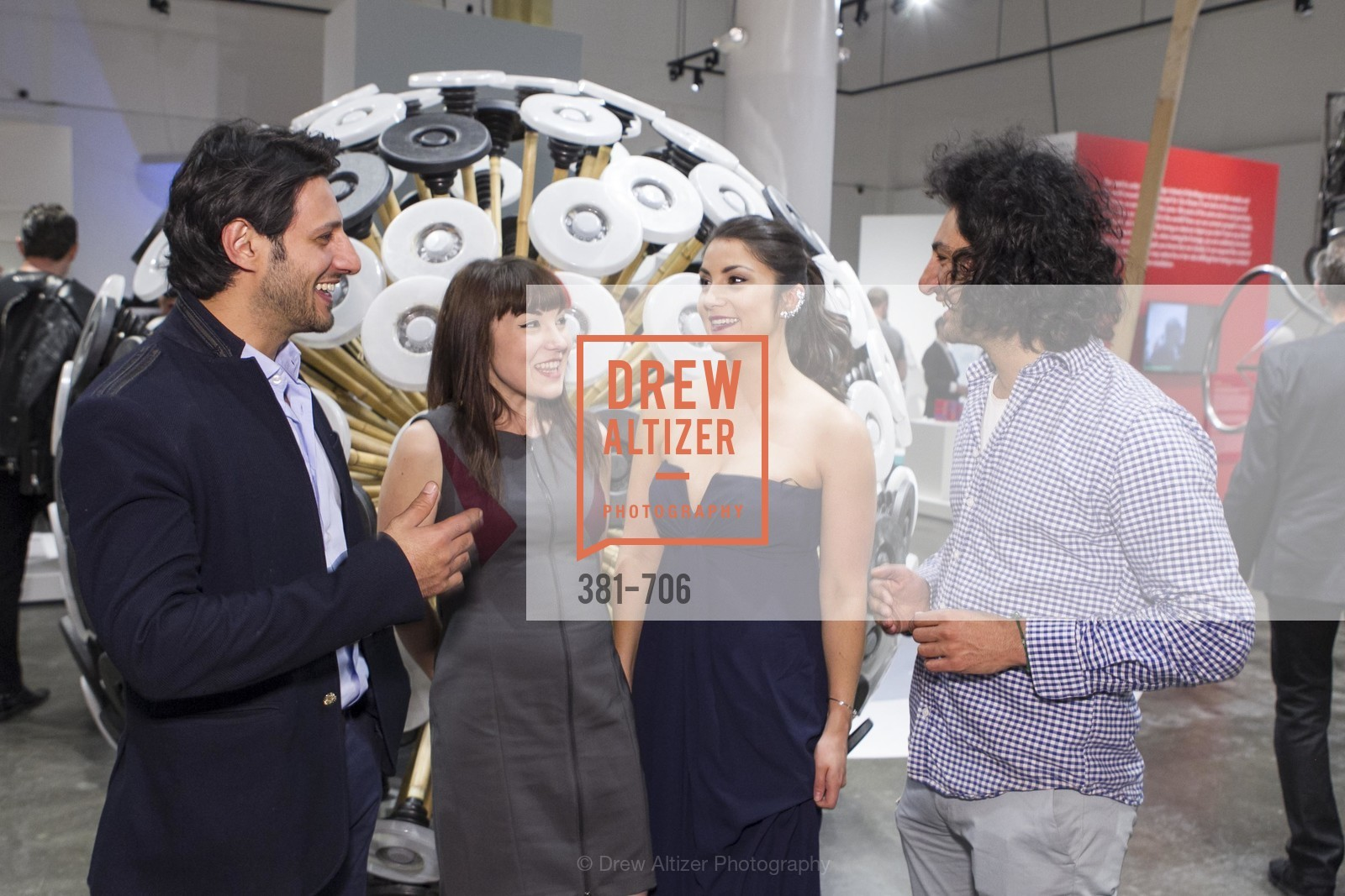 Mahmud Hassani, Ariel Zaccheo, Sara Dermody, Massoud Hassani, Exhibit Opening at the MUSEUM OF CRAFT AND DESIGN - Hands Off: New Dutch Design at the Confluence of Technology & Craft, US, May 8th, 2015,Drew Altizer, Drew Altizer Photography, full-service agency, private events, San Francisco photographer, photographer california