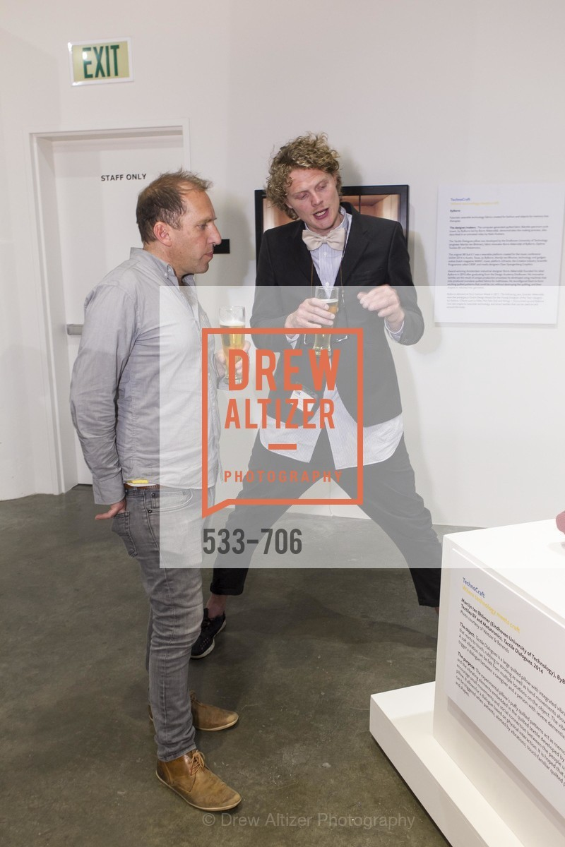 Borre Akkersdijk, Exhibit Opening at the MUSEUM OF CRAFT AND DESIGN - Hands Off: New Dutch Design at the Confluence of Technology & Craft, US, May 8th, 2015,Drew Altizer, Drew Altizer Photography, full-service agency, private events, San Francisco photographer, photographer california