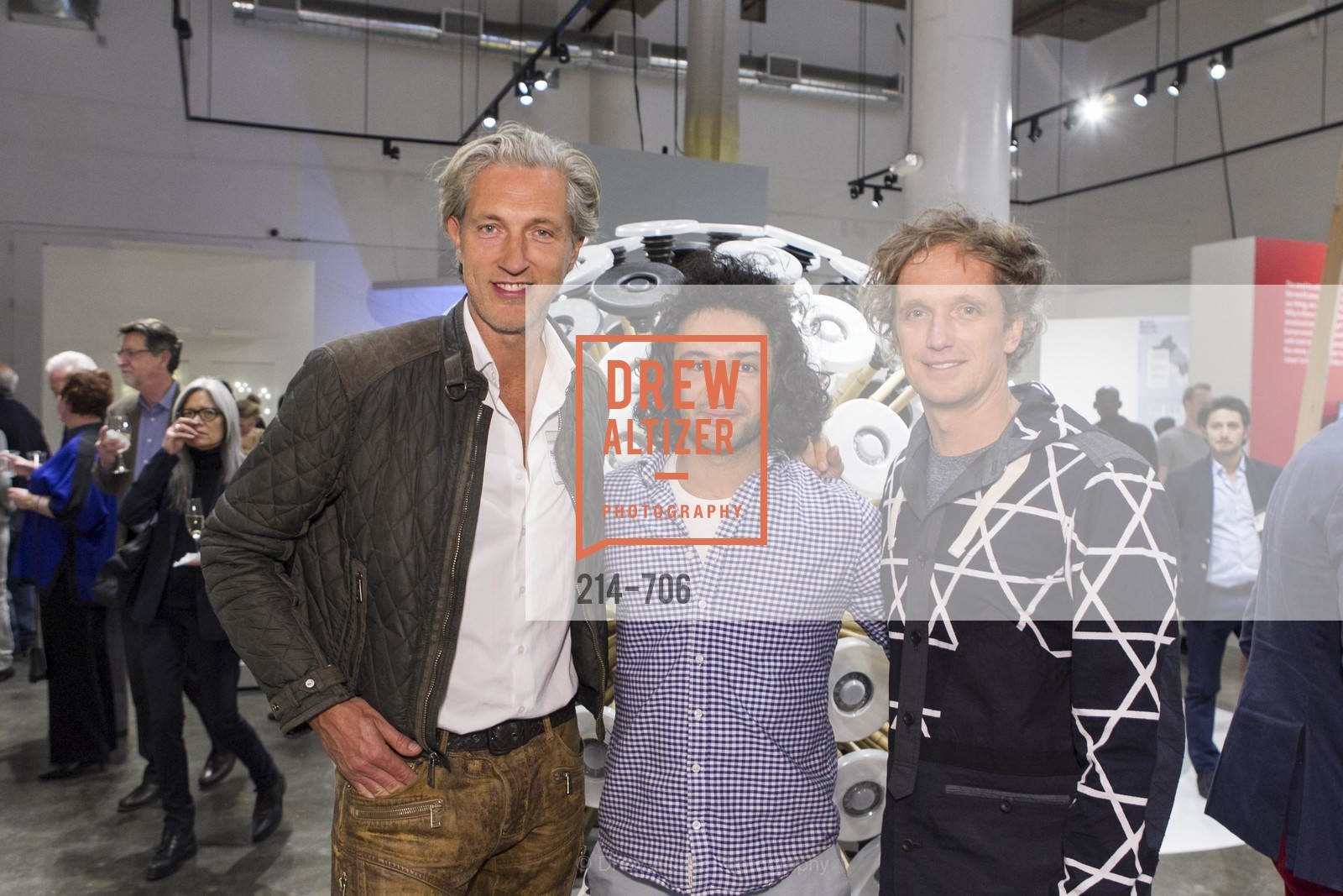 Marcel Wanders, Massoud Hassani, Yves Behar, Exhibit Opening at the MUSEUM OF CRAFT AND DESIGN - Hands Off: New Dutch Design at the Confluence of Technology & Craft, US, May 7th, 2015,Drew Altizer, Drew Altizer Photography, full-service agency, private events, San Francisco photographer, photographer california