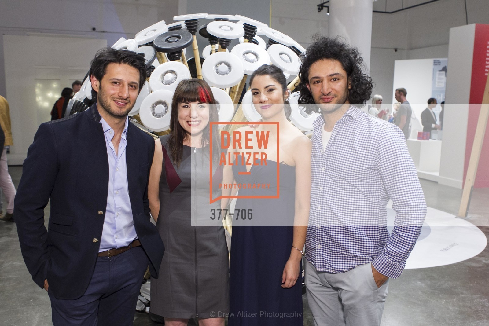 Mahmud Hassani, Ariel Zaccheo, Sara Dermody, Massoud Hassani, Exhibit Opening at the MUSEUM OF CRAFT AND DESIGN - Hands Off: New Dutch Design at the Confluence of Technology & Craft, US, May 7th, 2015,Drew Altizer, Drew Altizer Photography, full-service agency, private events, San Francisco photographer, photographer california