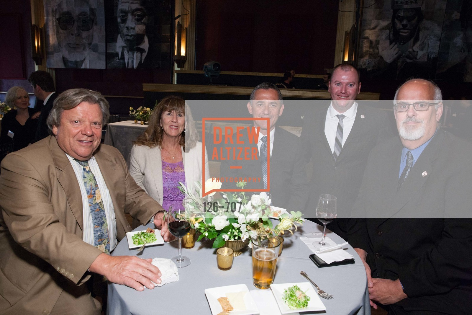 Aaron Read, Cathi Read, Mike Lopez, Pat Griffith, Tom Gardner, OAKLAND SCHOOL FOR THE ARTS Gala 2015 with Governor Jerry Brown, US, May 8th, 2015,Drew Altizer, Drew Altizer Photography, full-service agency, private events, San Francisco photographer, photographer california