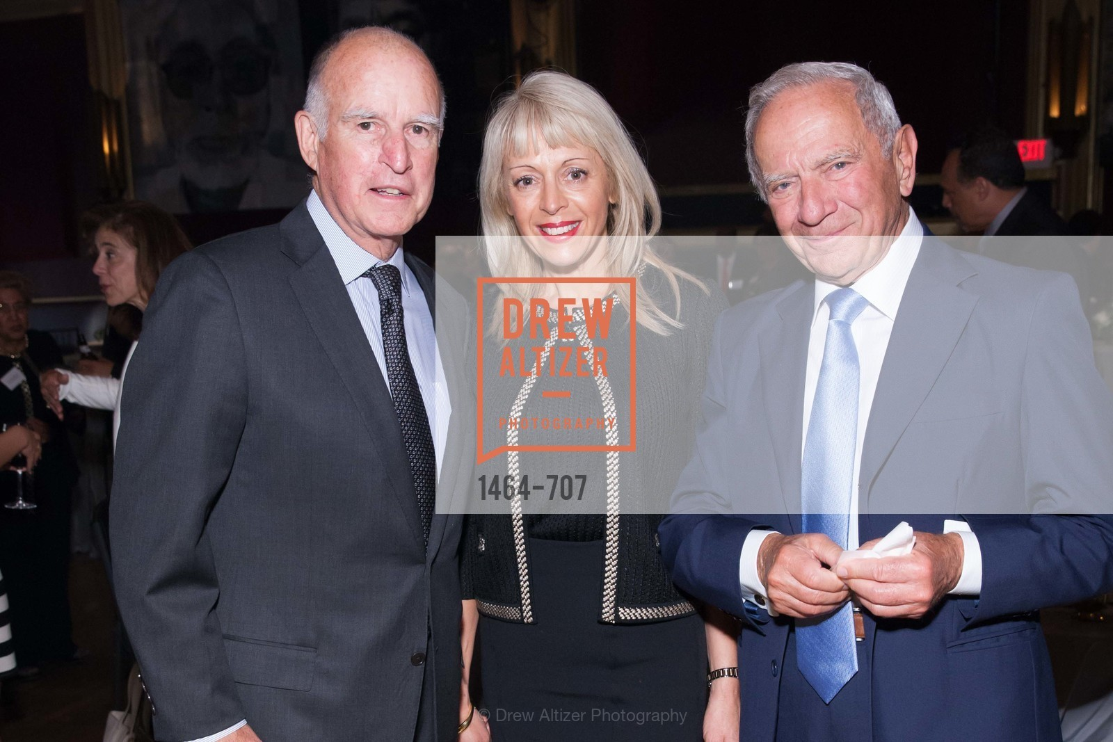 Gov. Jerry Brown, Alexandra Novak, Milan Panic, OAKLAND SCHOOL FOR THE ARTS Gala 2015 with Governor Jerry Brown, US, May 8th, 2015,Drew Altizer, Drew Altizer Photography, full-service agency, private events, San Francisco photographer, photographer california