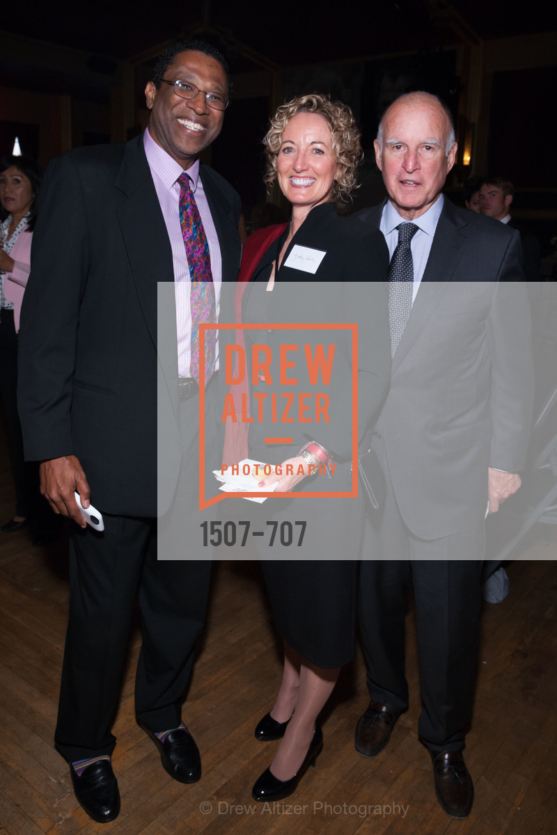 Ian Ahwal, Kathy White, Gov. Jerry Brown, OAKLAND SCHOOL FOR THE ARTS Gala 2015 with Governor Jerry Brown, US, May 8th, 2015,Drew Altizer, Drew Altizer Photography, full-service agency, private events, San Francisco photographer, photographer california