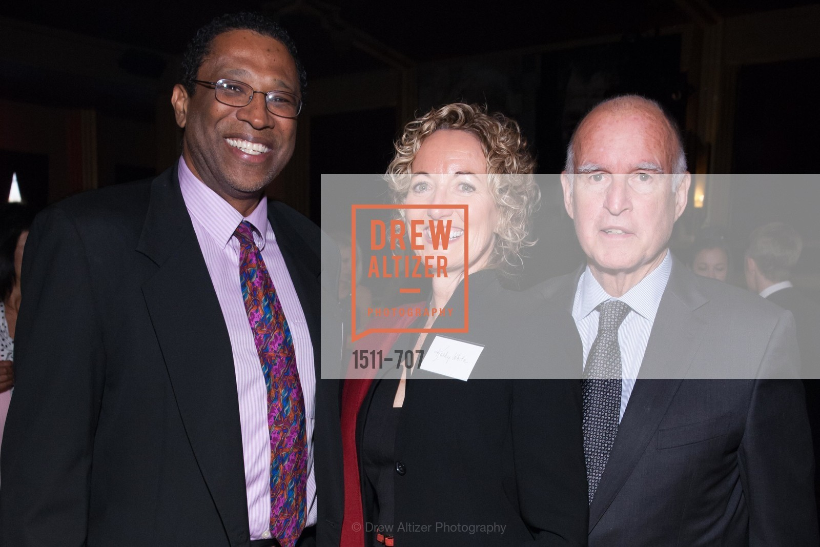 Ian Ahwal, Kathy White, Gov. Jerry Brown, OAKLAND SCHOOL FOR THE ARTS Gala 2015 with Governor Jerry Brown, US, May 7th, 2015,Drew Altizer, Drew Altizer Photography, full-service agency, private events, San Francisco photographer, photographer california