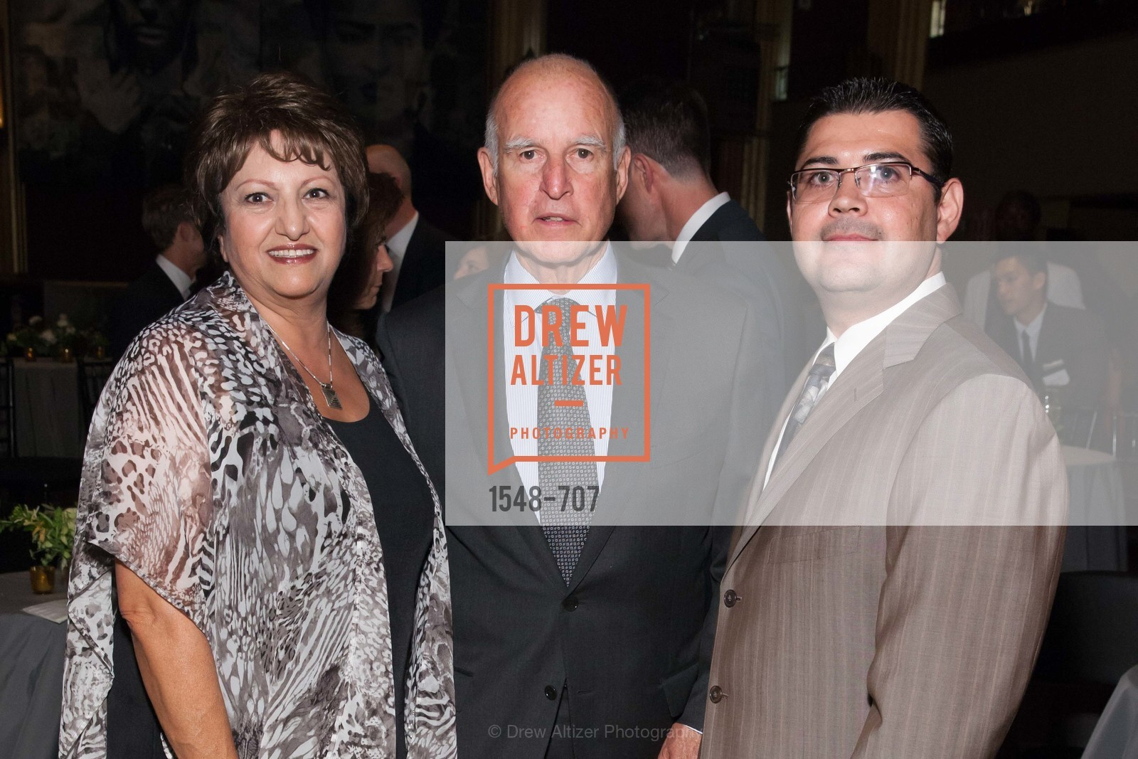 Lili Zahedani, Governor Jerry Brown, David Quintana, OAKLAND SCHOOL FOR THE ARTS Gala 2015 with Governor Jerry Brown, US, May 8th, 2015,Drew Altizer, Drew Altizer Photography, full-service agency, private events, San Francisco photographer, photographer california