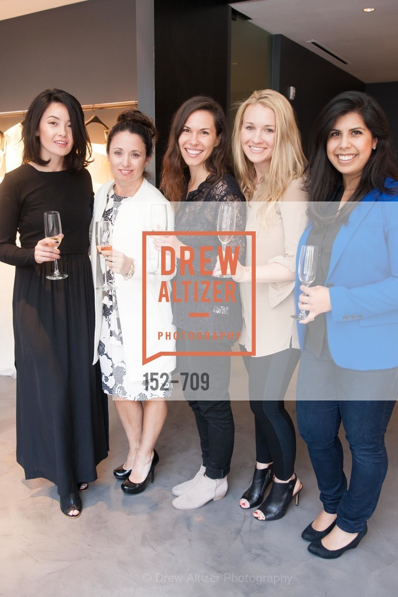 Michelle Healow, Alicia Falango, Amanda Vidmar, Justine Harrington, Caitlin Vandrano, VERA WANG Spring Collection Preview with DOMAINE CARNEROS WINES, US, May 7th, 2015,Drew Altizer, Drew Altizer Photography, full-service agency, private events, San Francisco photographer, photographer california