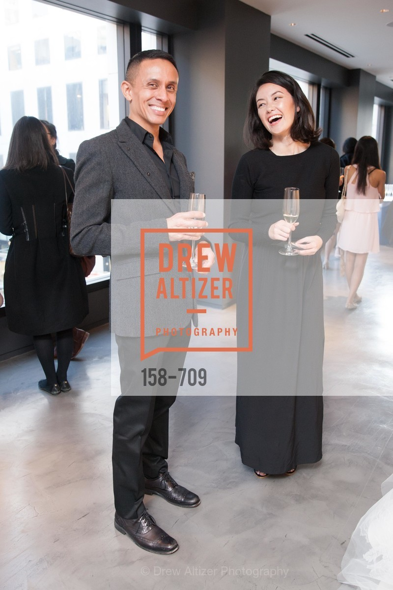 Franklyn Spence, Michelle Healow, VERA WANG Spring Collection Preview with DOMAINE CARNEROS WINES, US, May 7th, 2015,Drew Altizer, Drew Altizer Photography, full-service agency, private events, San Francisco photographer, photographer california