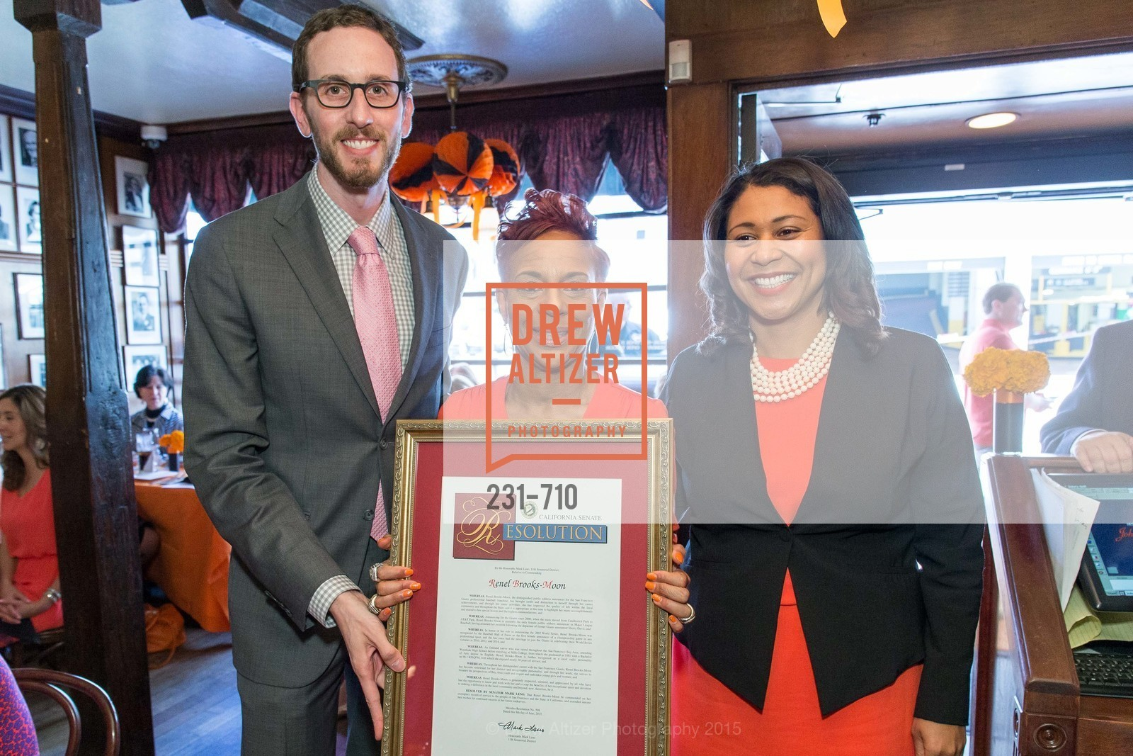 Scott Wiener, Renel Brooks-Moon, London Breed, 3-RING LUNCH CELEBRATION Honoring RENEL BROOKS-MOON, US, June 8th, 2015,Drew Altizer, Drew Altizer Photography, full-service agency, private events, San Francisco photographer, photographer california