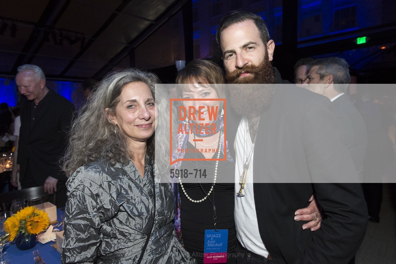 Frish Brandt, Lilly Schwartz, Avashai Cohen, SFJAZZ Gala 2015 Honors Joni Mitchell with Lifetime Achievement Award, US, May 9th, 2015,Drew Altizer, Drew Altizer Photography, full-service agency, private events, San Francisco photographer, photographer california
