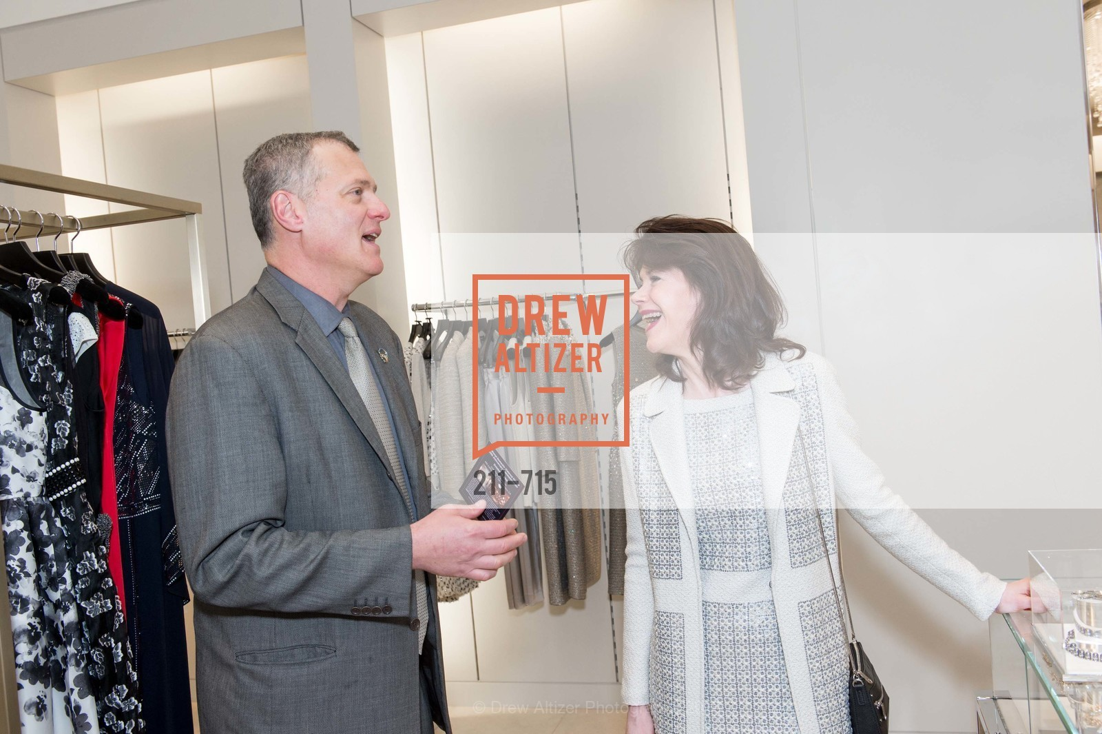 Mike Maurer, Elaine Mellis, The National Domestic Violence Hotline 20th Anniversary Gala Launch Party, St. John Boutique. 767 Market St, January 20th, 2016,Drew Altizer, Drew Altizer Photography, full-service agency, private events, San Francisco photographer, photographer california
