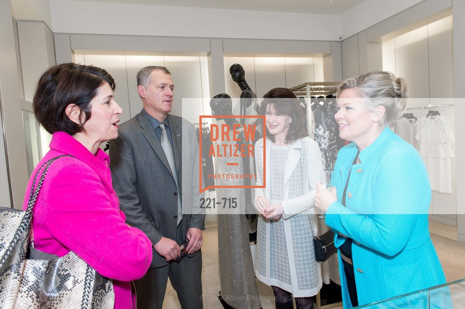 Shana Daum, Mike Maurer, Elaine Mellis, The National Domestic Violence Hotline 20th Anniversary Gala Launch Party, St. John Boutique. 767 Market St, January 20th, 2016,Drew Altizer, Drew Altizer Photography, full-service agency, private events, San Francisco photographer, photographer california