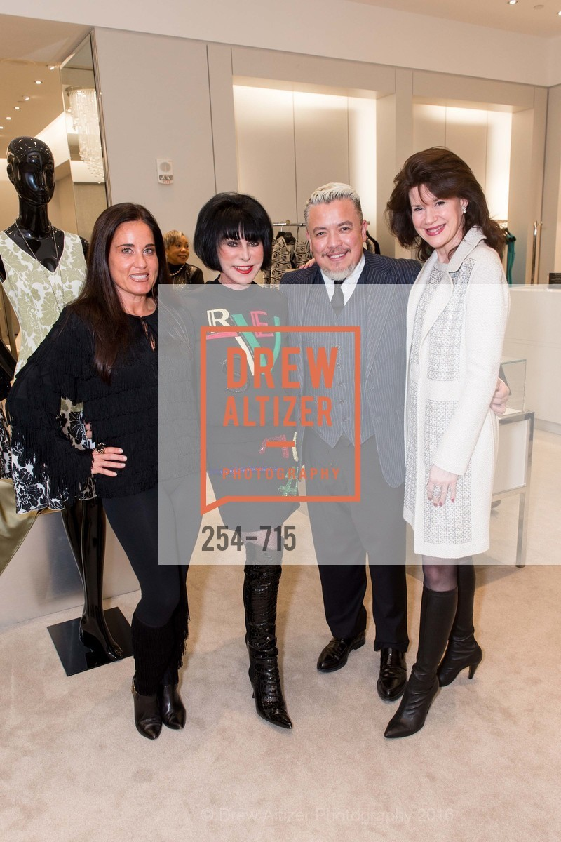 Natalia Urrutia, Marilyn Cabak, Victor Vargas, Elaine Mellis, The National Domestic Violence Hotline 20th Anniversary Gala Launch Party, St. John Boutique. 767 Market St, January 20th, 2016,Drew Altizer, Drew Altizer Photography, full-service agency, private events, San Francisco photographer, photographer california