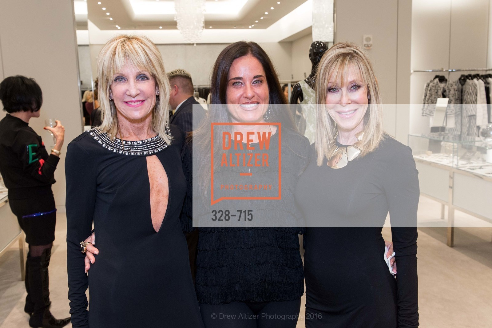 Sandy Mandel, Natalia Urrutia, Barbara Winchell, The National Domestic Violence Hotline 20th Anniversary Gala Launch Party, St. John Boutique. 767 Market St, January 20th, 2016,Drew Altizer, Drew Altizer Photography, full-service event agency, private events, San Francisco photographer, photographer California