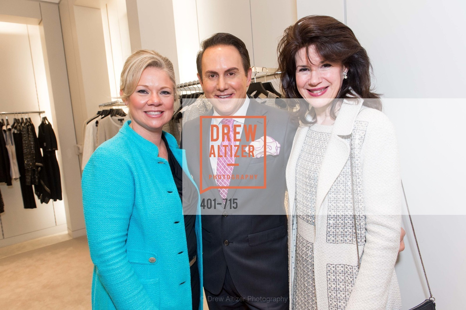 Katie Ray-Jones, Joel Goodrich, Elaine Mellis, The National Domestic Violence Hotline 20th Anniversary Gala Launch Party, St. John Boutique. 767 Market St, January 20th, 2016,Drew Altizer, Drew Altizer Photography, full-service agency, private events, San Francisco photographer, photographer california