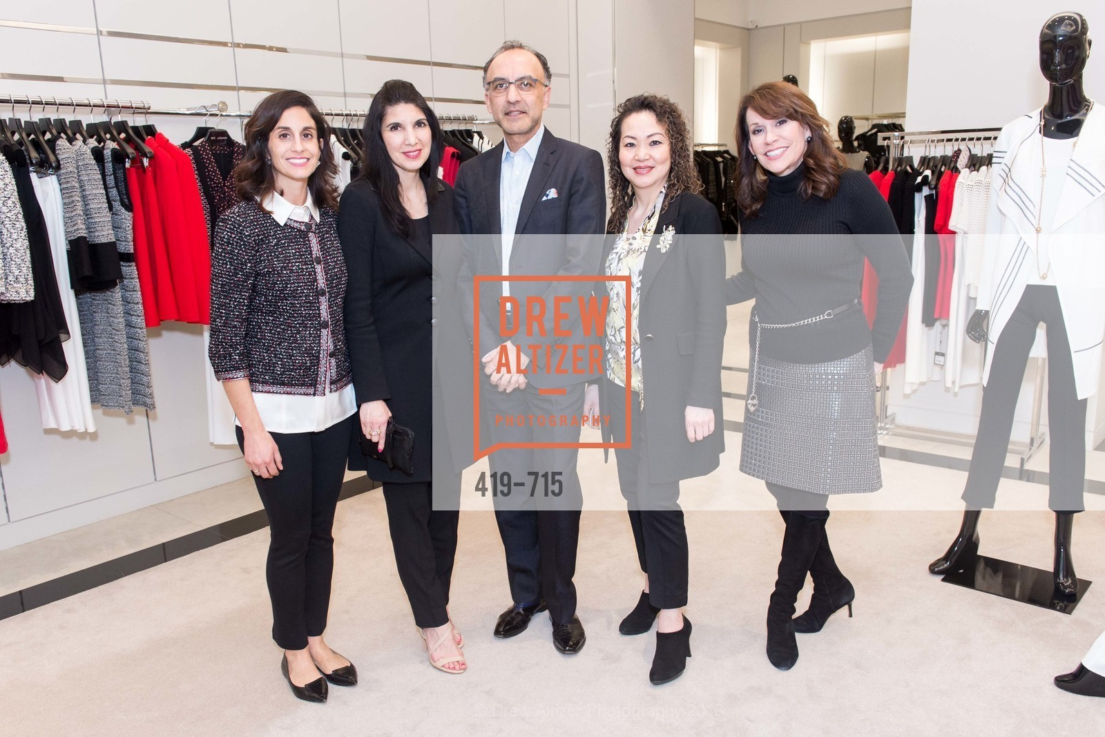 Jennifer Carrillo, Yoshabel Clements, Qais Abrahim, Katherine Cheng, Kate DeBernardi, The National Domestic Violence Hotline 20th Anniversary Gala Launch Party, St. John Boutique. 767 Market St, January 20th, 2016,Drew Altizer, Drew Altizer Photography, full-service agency, private events, San Francisco photographer, photographer california
