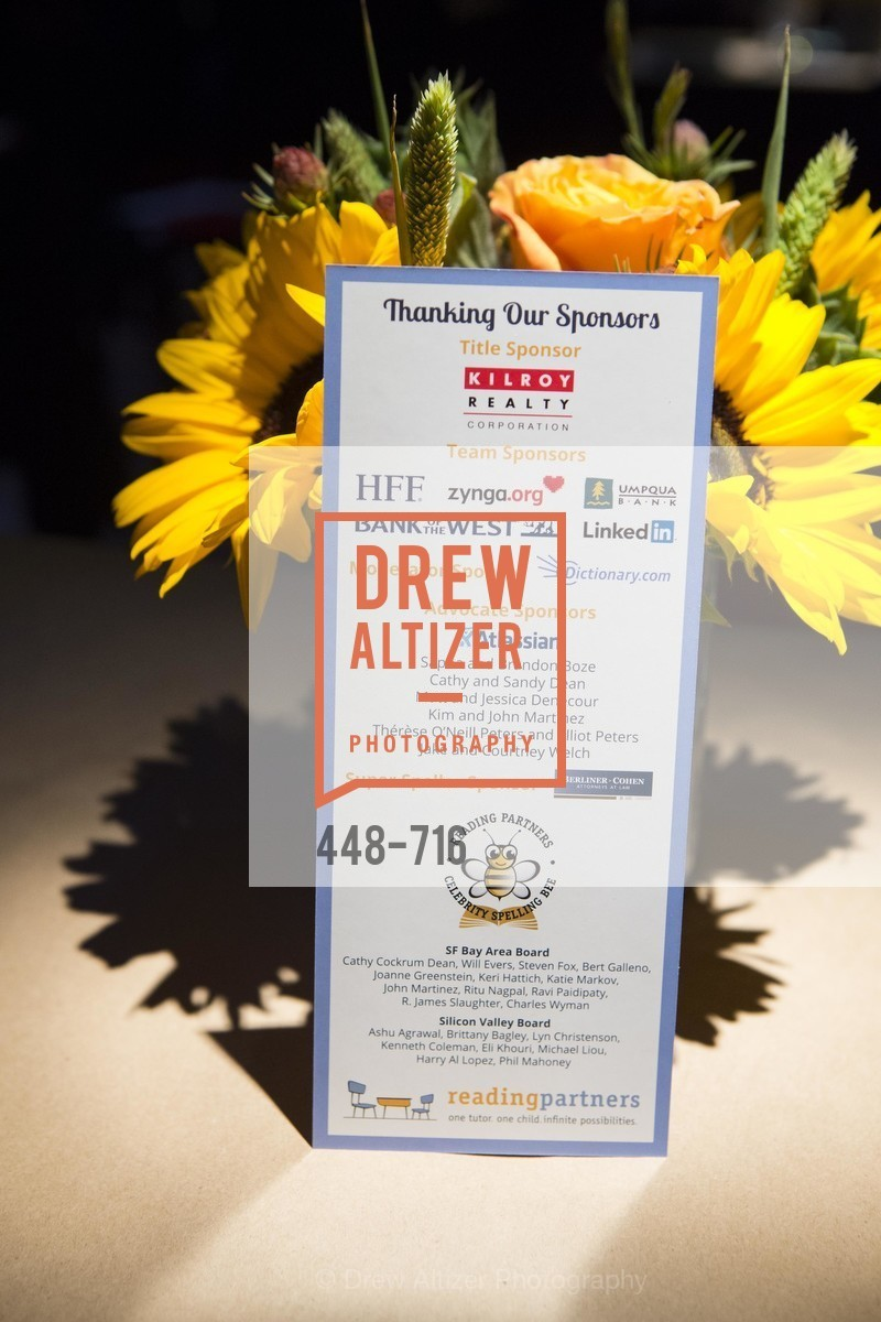Atmosphere, READING PARTNERS BAY AREA Celebrity Spelling Bee, May 9th, 2015, Photo,Drew Altizer, Drew Altizer Photography, full-service agency, private events, San Francisco photographer, photographer california