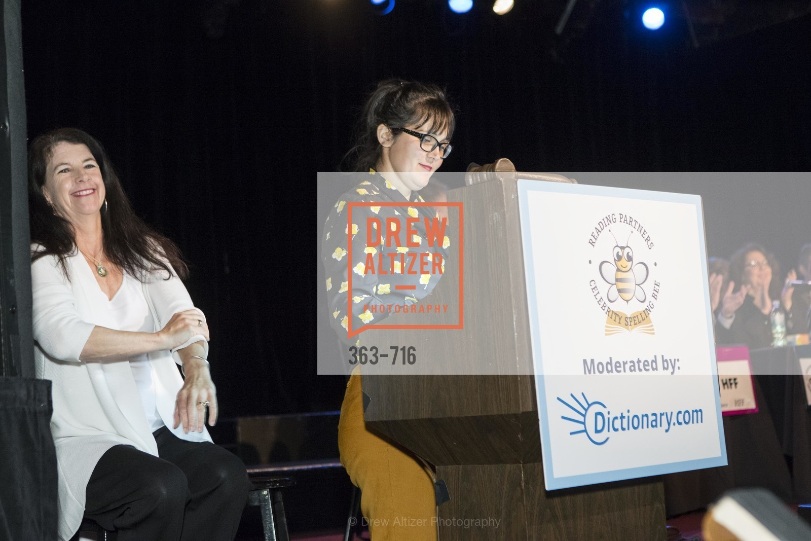 Michele Turner, Rebekah Otto, READING PARTNERS BAY AREA Celebrity Spelling Bee, US, May 9th, 2015