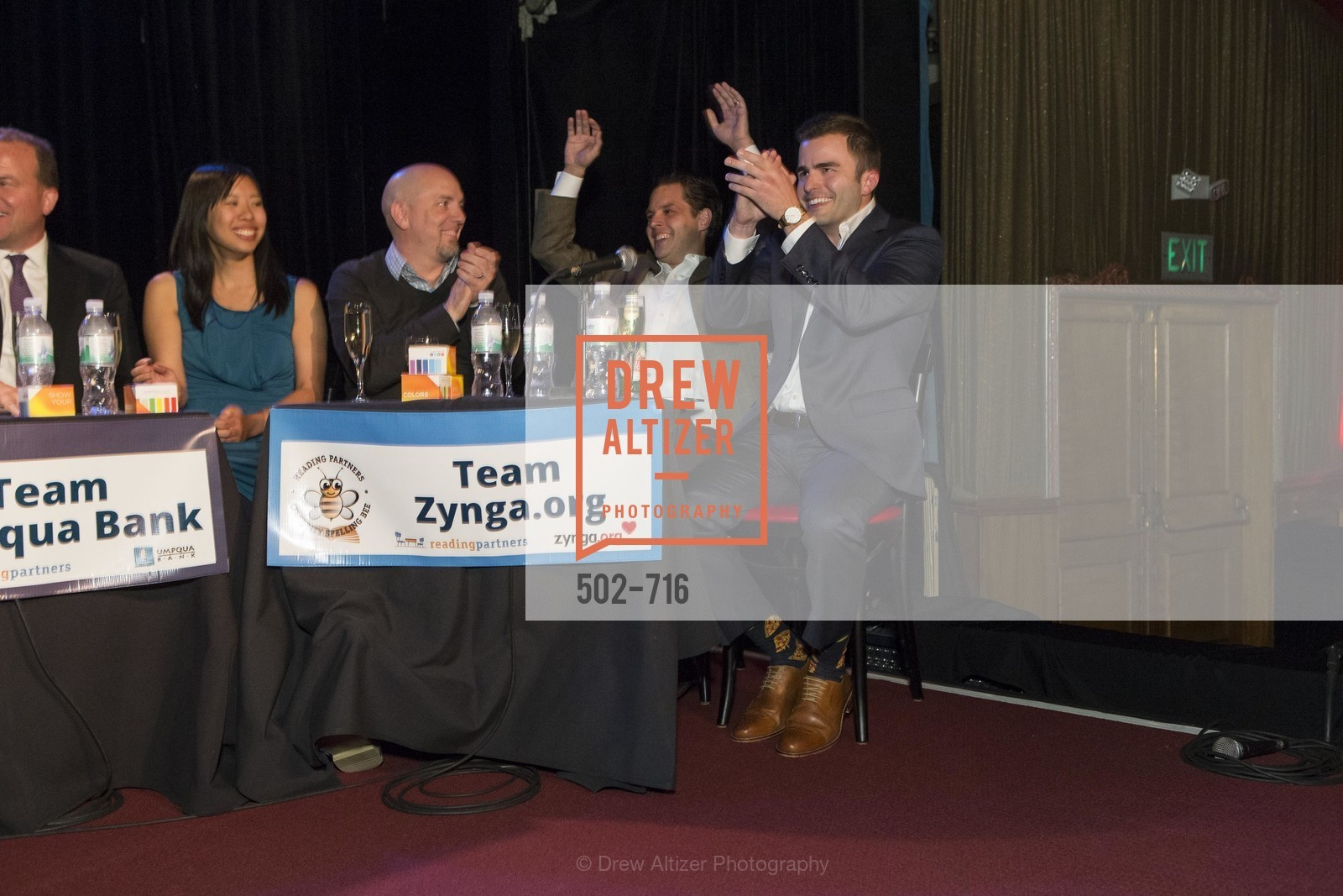 Amy Dinh, Jonathan Knight, Michael Lombardo, Zach Cusimano, READING PARTNERS BAY AREA Celebrity Spelling Bee, US, May 9th, 2015,Drew Altizer, Drew Altizer Photography, full-service agency, private events, San Francisco photographer, photographer california