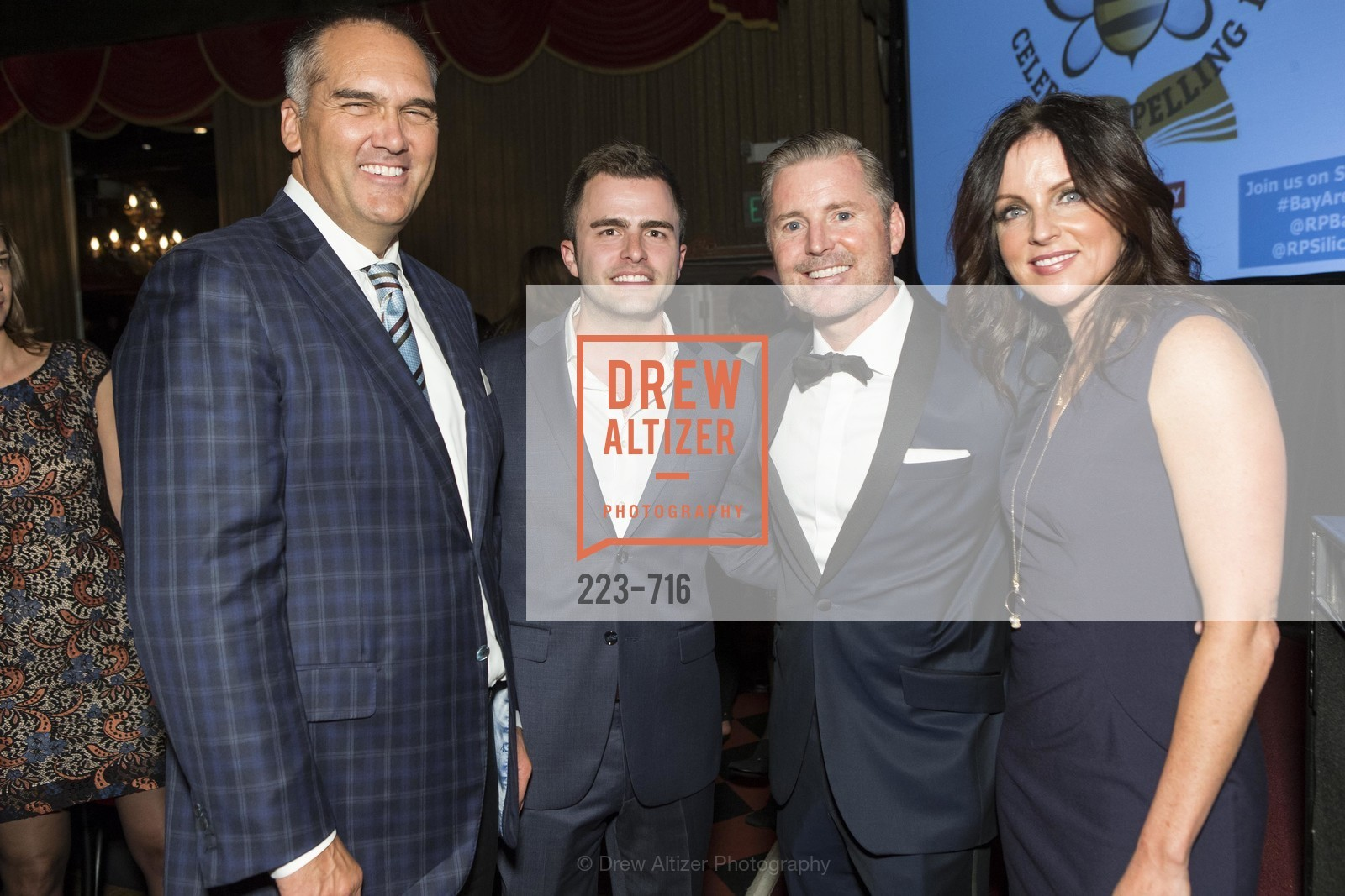 Paul Wible, Zach Cusimano, Doug Landis, Carol Miller, READING PARTNERS BAY AREA Celebrity Spelling Bee, US, May 9th, 2015,Drew Altizer, Drew Altizer Photography, full-service agency, private events, San Francisco photographer, photographer california