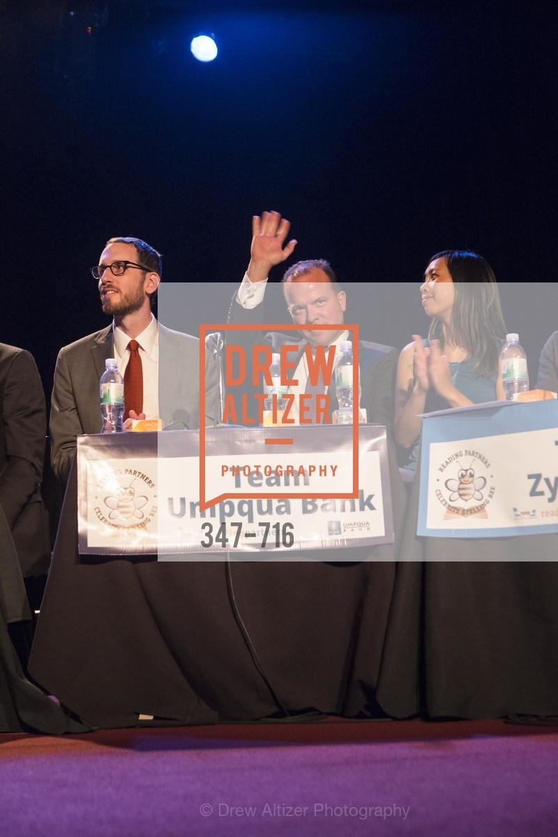 Supervisor Scott Wiener, Greg Seibley, Amy Dinh, READING PARTNERS BAY AREA Celebrity Spelling Bee, US, May 9th, 2015,Drew Altizer, Drew Altizer Photography, full-service agency, private events, San Francisco photographer, photographer california