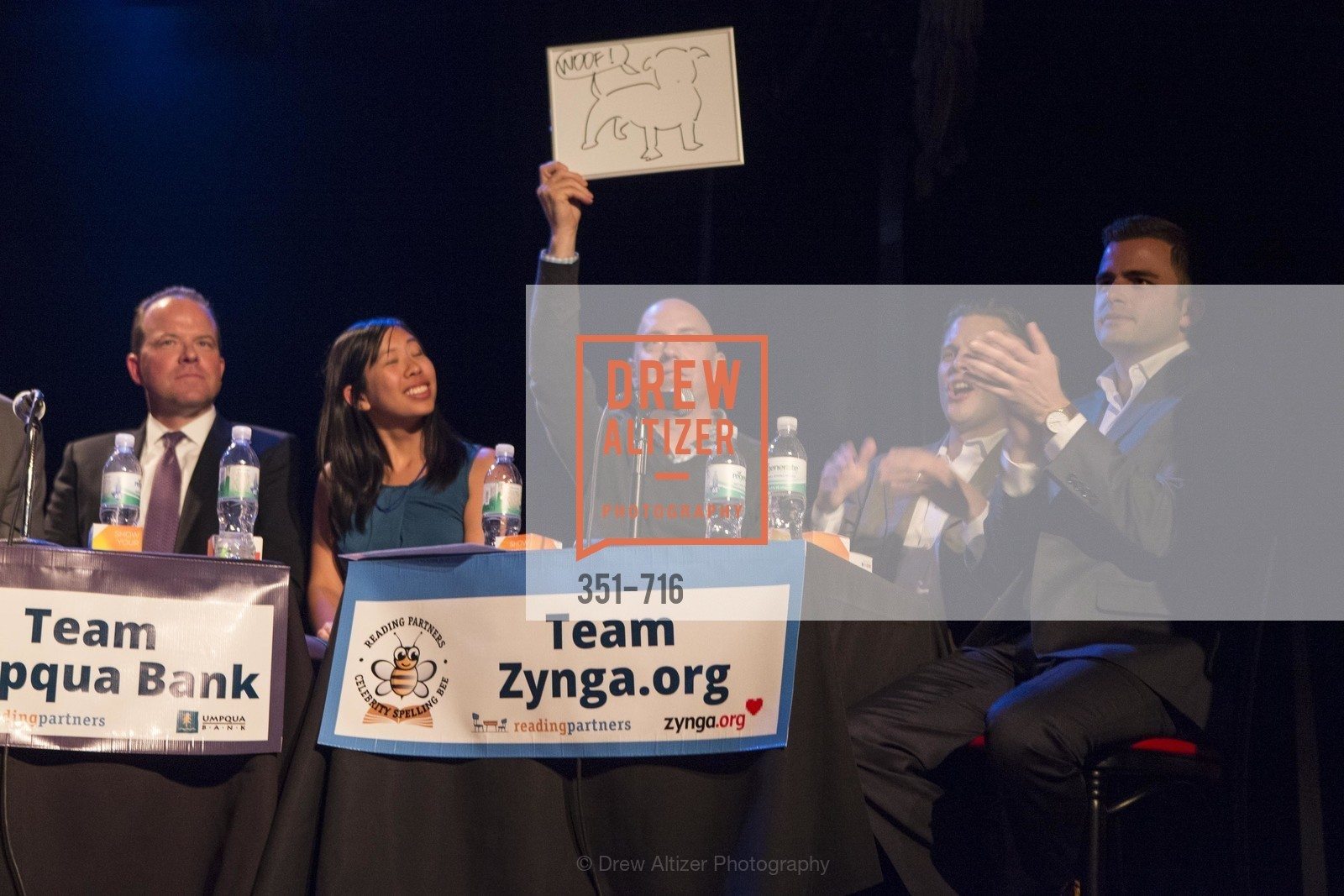Greg Seibley, Amy Dinh, Jonathan Knight, Michael Lombardo, Zach Cusimano, READING PARTNERS BAY AREA Celebrity Spelling Bee, US, May 9th, 2015,Drew Altizer, Drew Altizer Photography, full-service agency, private events, San Francisco photographer, photographer california