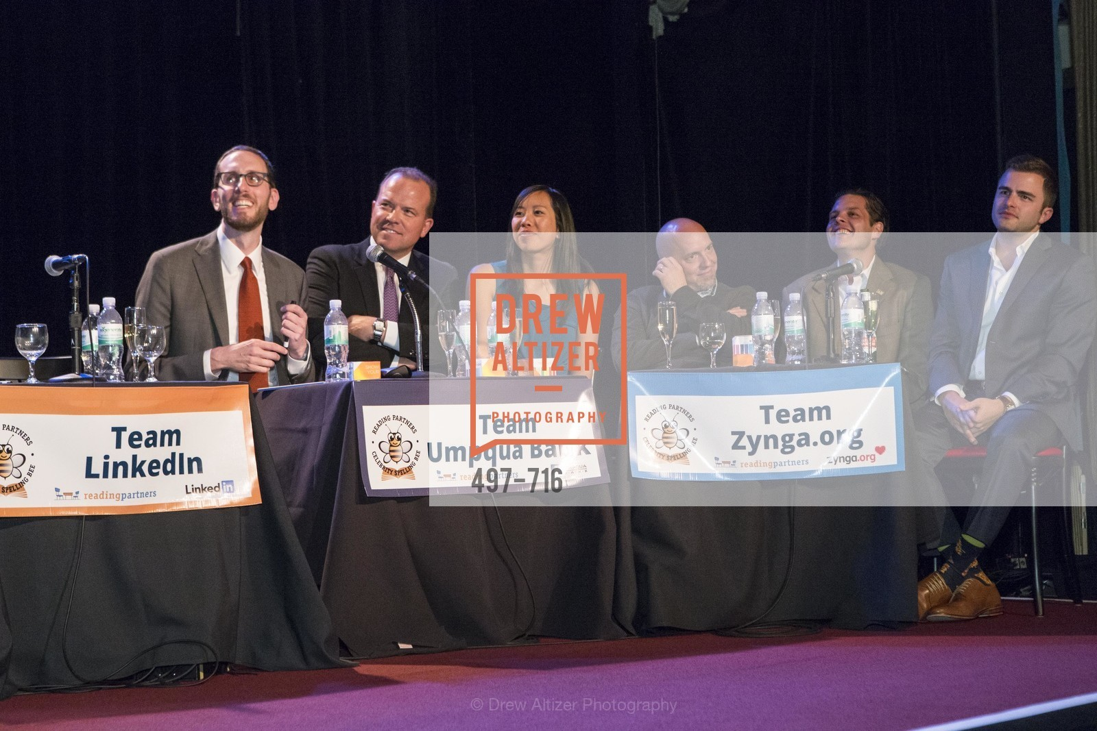 Supervisor Scott Wiener, Greg Seibley, Amy Dinh, Jonathan Knight, Michael Lombardo, Zach Cusimano, READING PARTNERS BAY AREA Celebrity Spelling Bee, US, May 8th, 2015,Drew Altizer, Drew Altizer Photography, full-service agency, private events, San Francisco photographer, photographer california
