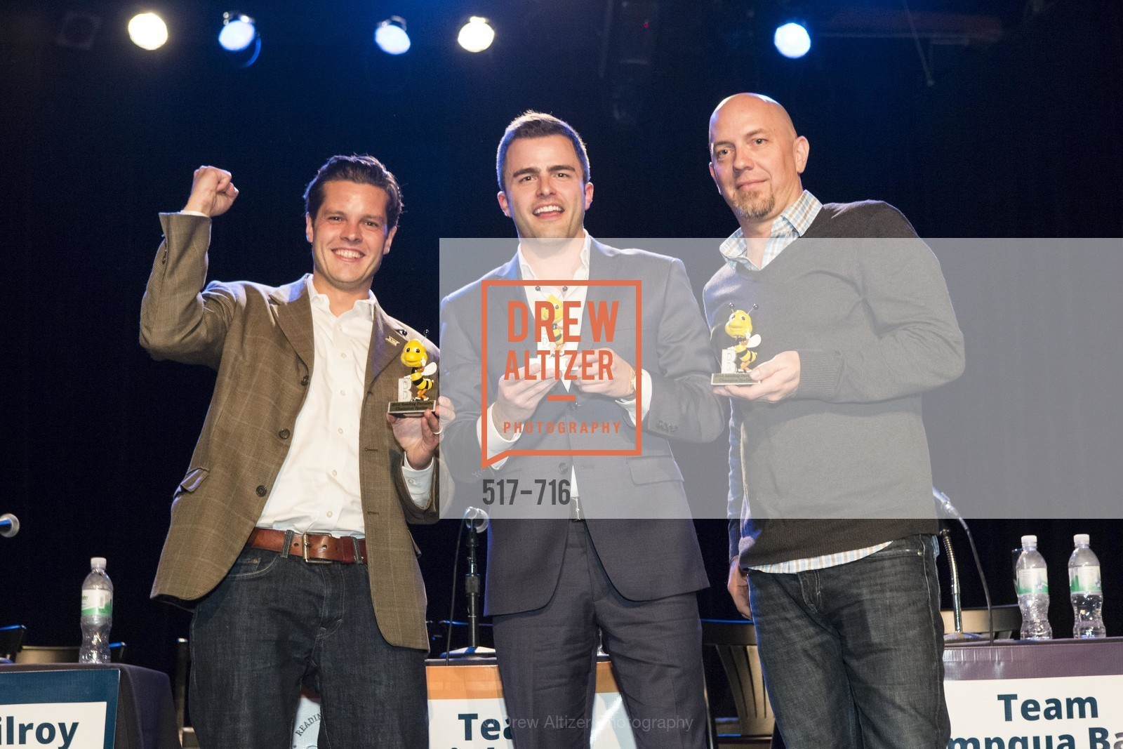 Michael Lombardo, Zach Cusimano, Jonathan Knight, READING PARTNERS BAY AREA Celebrity Spelling Bee, US, May 8th, 2015,Drew Altizer, Drew Altizer Photography, full-service agency, private events, San Francisco photographer, photographer california