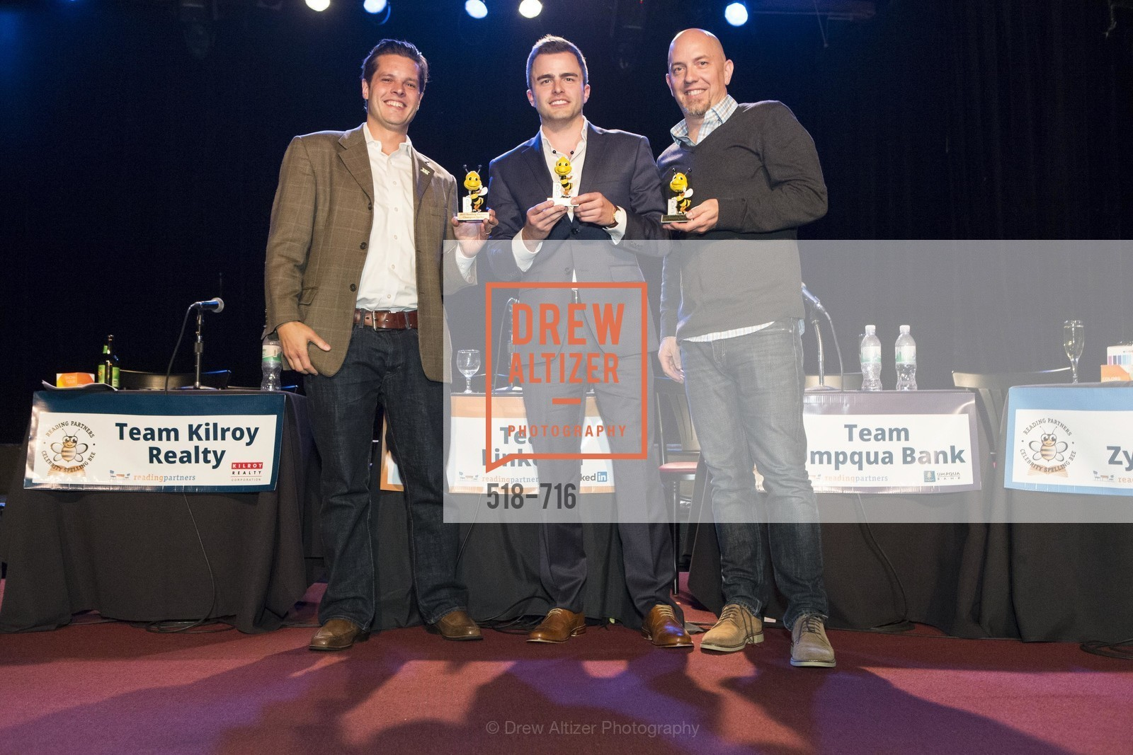 Michael Lombardo, Zach Cusimano, Jonathan Knight, READING PARTNERS BAY AREA Celebrity Spelling Bee, US, May 9th, 2015,Drew Altizer, Drew Altizer Photography, full-service agency, private events, San Francisco photographer, photographer california