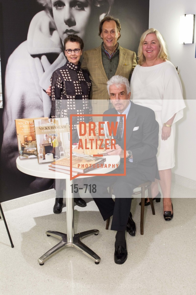 Kathleen Taylor, Nicky Haslam, Ned Mobley, Heidi Gerpheide, ICAA Hosts NICKY HASLAM'S Lecture and Book Signing, US, May 12th, 2015,Drew Altizer, Drew Altizer Photography, full-service agency, private events, San Francisco photographer, photographer california