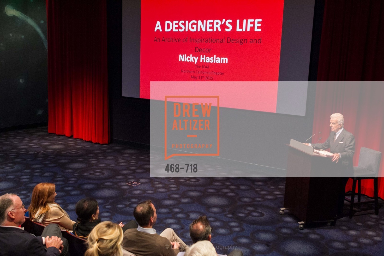 Nicky Haslam, ICAA Hosts NICKY HASLAM'S Lecture and Book Signing, US, May 12th, 2015,Drew Altizer, Drew Altizer Photography, full-service agency, private events, San Francisco photographer, photographer california