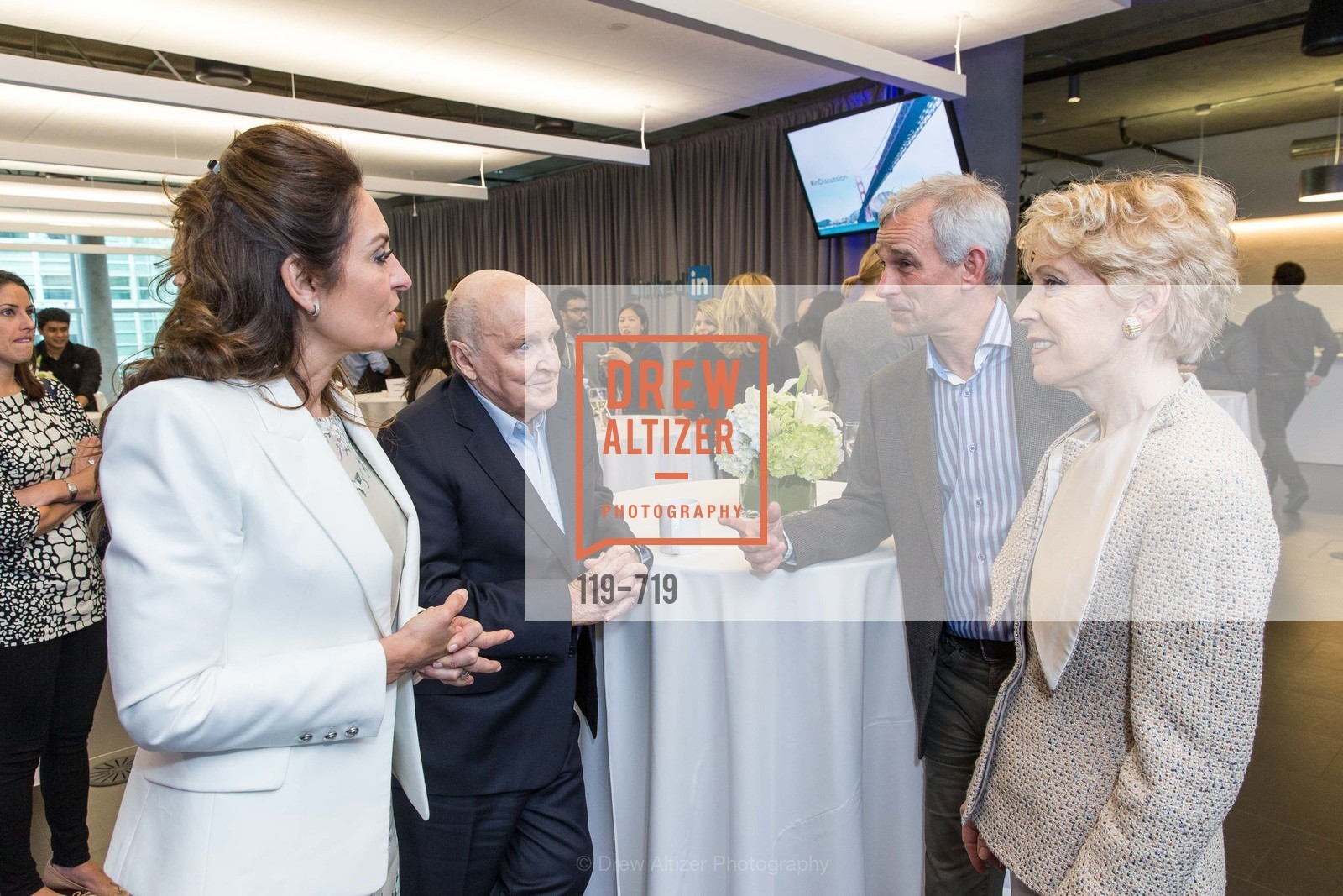 Suzy Welch, Jack Welch, Barbara Brookins-schneider, THE LINKEDIN Discussion Series featuring Jack and Suzy Welch with LinkedIn Executive Editor Dan Roth, US, May 12th, 2015,Drew Altizer, Drew Altizer Photography, full-service agency, private events, San Francisco photographer, photographer california