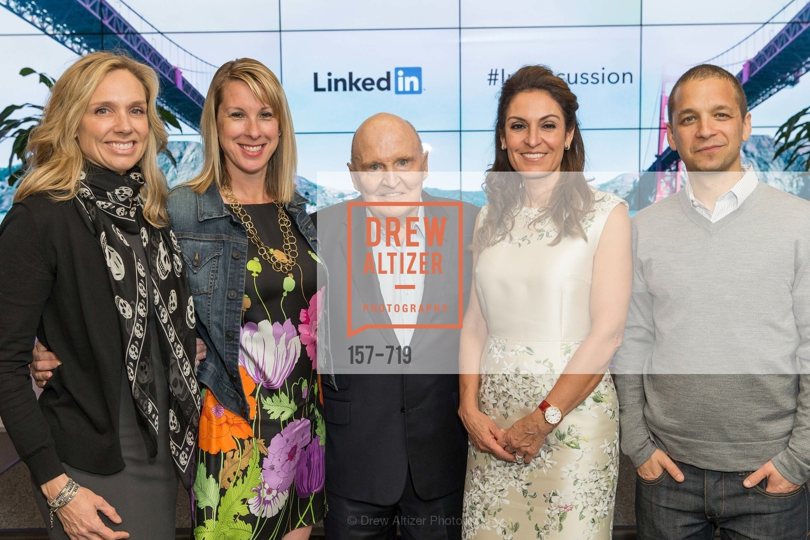 Catherine Fisher, Shannon Stubo, Jack Welch, Suzy Welch, Dan Roth, THE LINKEDIN Discussion Series featuring Jack and Suzy Welch with LinkedIn Executive Editor Dan Roth, US, May 12th, 2015,Drew Altizer, Drew Altizer Photography, full-service agency, private events, San Francisco photographer, photographer california