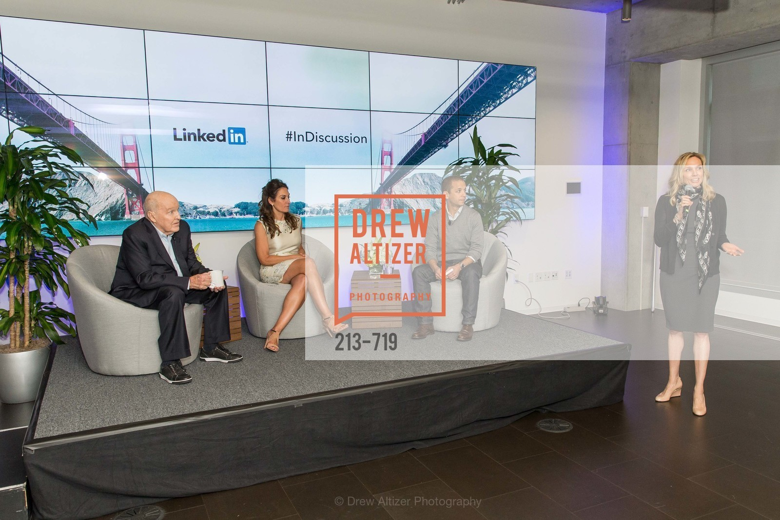 Jack Welch, Suzy Welch, Dan Roth, Catherine Fisher, THE LINKEDIN Discussion Series featuring Jack and Suzy Welch with LinkedIn Executive Editor Dan Roth, US, May 12th, 2015,Drew Altizer, Drew Altizer Photography, full-service agency, private events, San Francisco photographer, photographer california