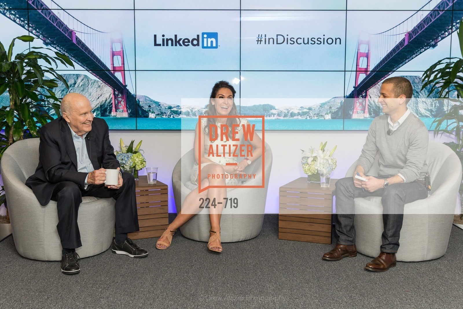 Jack Welch, Suzy Welch, Dan Roth, THE LINKEDIN Discussion Series featuring Jack and Suzy Welch with LinkedIn Executive Editor Dan Roth, US, May 11th, 2015,Drew Altizer, Drew Altizer Photography, full-service agency, private events, San Francisco photographer, photographer california