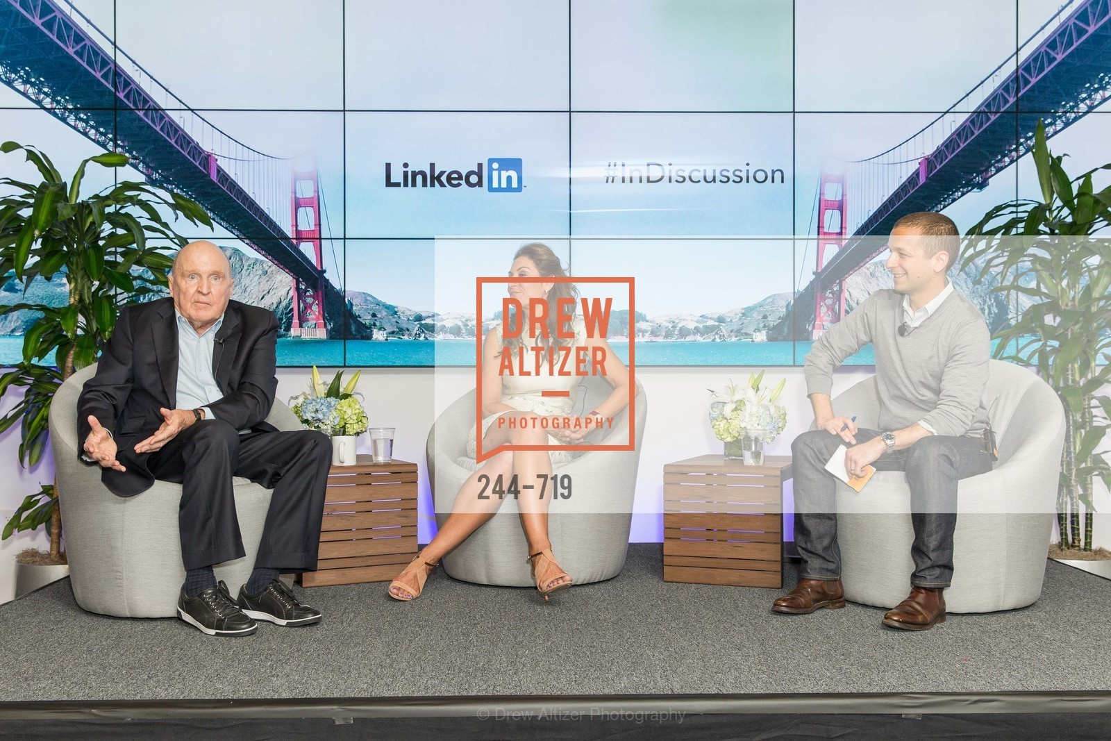Jack Welch, Suzy Welch, Dan Roth, THE LINKEDIN Discussion Series featuring Jack and Suzy Welch with LinkedIn Executive Editor Dan Roth, US, May 12th, 2015,Drew Altizer, Drew Altizer Photography, full-service agency, private events, San Francisco photographer, photographer california