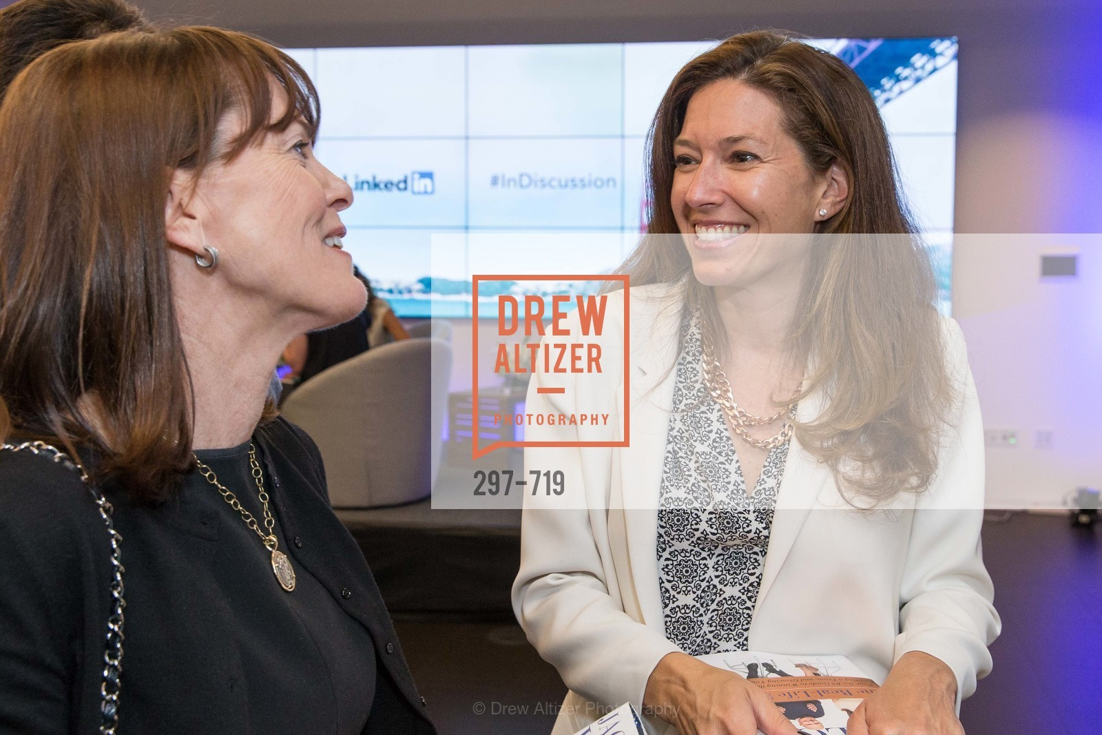 Allison Speer, Kristine Shine, THE LINKEDIN Discussion Series featuring Jack and Suzy Welch with LinkedIn Executive Editor Dan Roth, US, May 12th, 2015,Drew Altizer, Drew Altizer Photography, full-service agency, private events, San Francisco photographer, photographer california