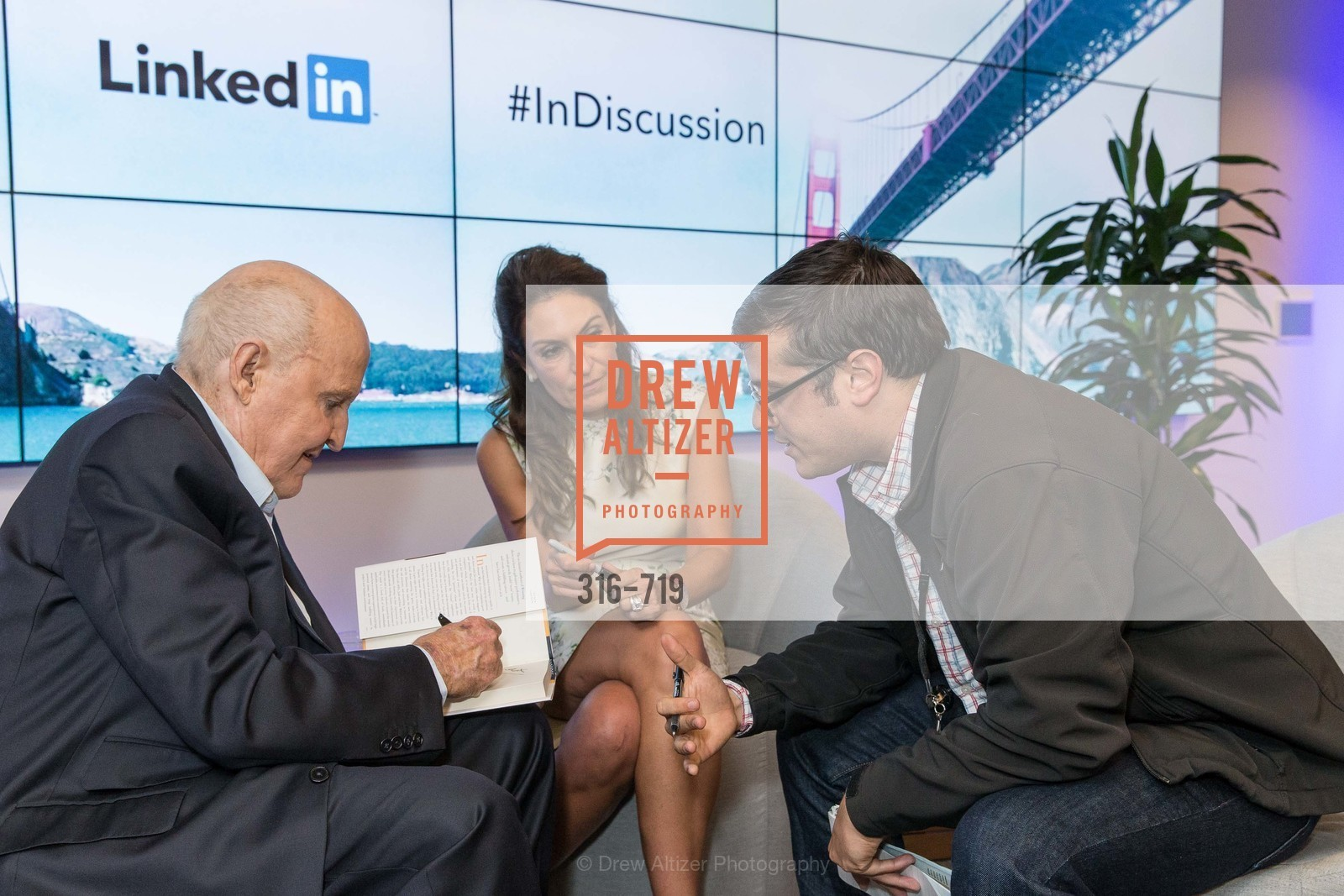 Jack Welch, Suzy Welch, Max Tabes, THE LINKEDIN Discussion Series featuring Jack and Suzy Welch with LinkedIn Executive Editor Dan Roth, US, May 12th, 2015,Drew Altizer, Drew Altizer Photography, full-service agency, private events, San Francisco photographer, photographer california