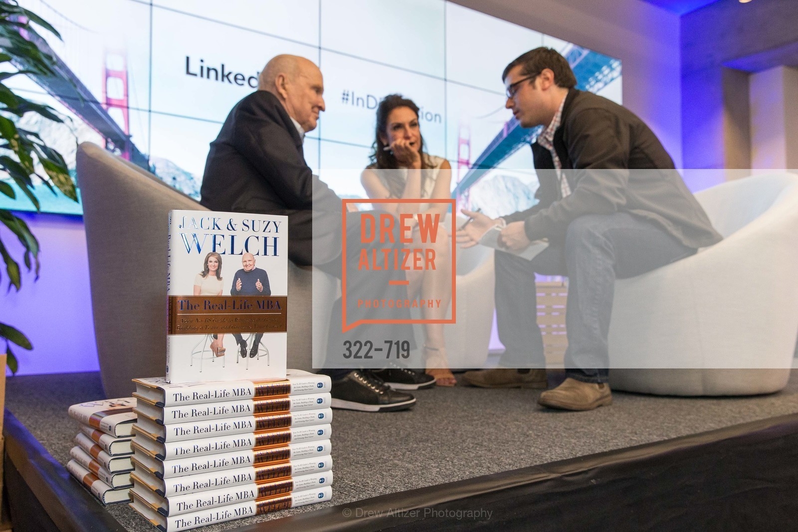 Jack Welch, Suzy Welch, Max Tabes, THE LINKEDIN Discussion Series featuring Jack and Suzy Welch with LinkedIn Executive Editor Dan Roth, US, May 11th, 2015,Drew Altizer, Drew Altizer Photography, full-service agency, private events, San Francisco photographer, photographer california