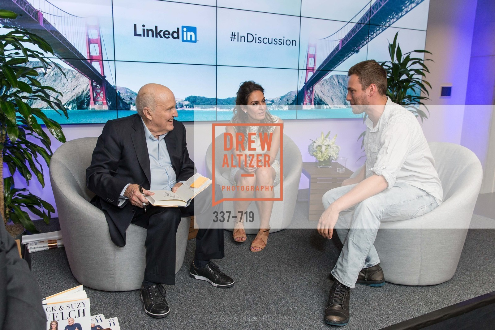 Jack Welch, Suzy Welch, Austin Anderson, THE LINKEDIN Discussion Series featuring Jack and Suzy Welch with LinkedIn Executive Editor Dan Roth, US, May 11th, 2015,Drew Altizer, Drew Altizer Photography, full-service agency, private events, San Francisco photographer, photographer california