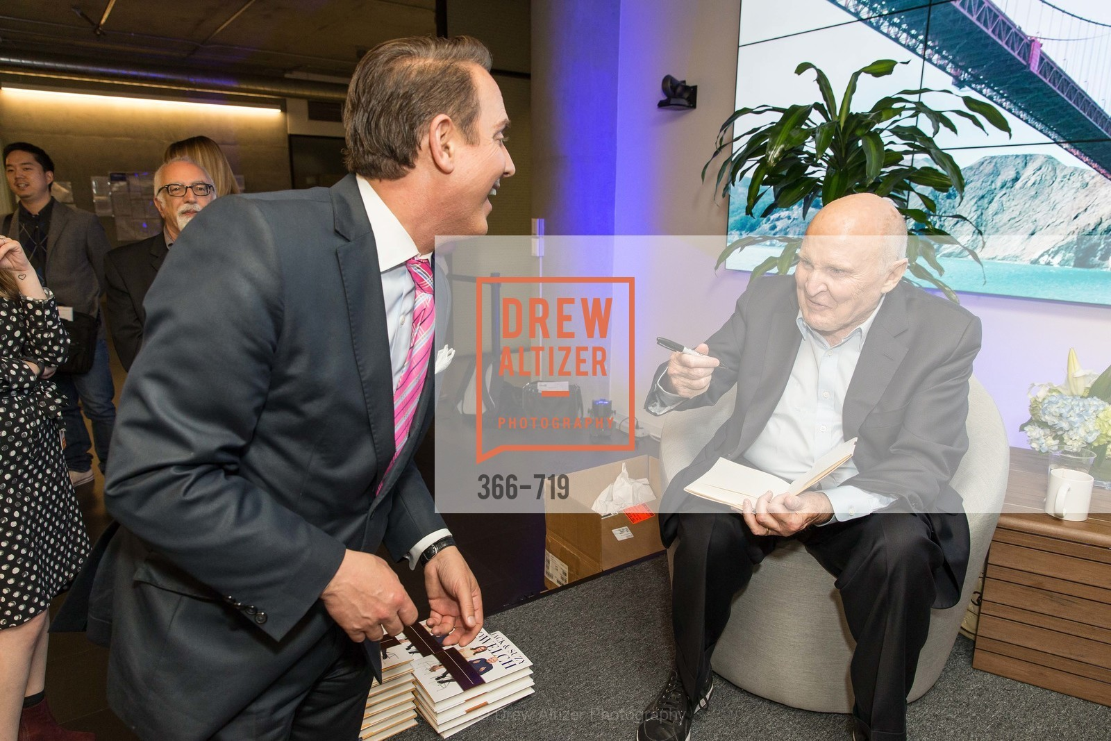 Joel Goodrich, Jack Welch, THE LINKEDIN Discussion Series featuring Jack and Suzy Welch with LinkedIn Executive Editor Dan Roth, US, May 11th, 2015,Drew Altizer, Drew Altizer Photography, full-service agency, private events, San Francisco photographer, photographer california