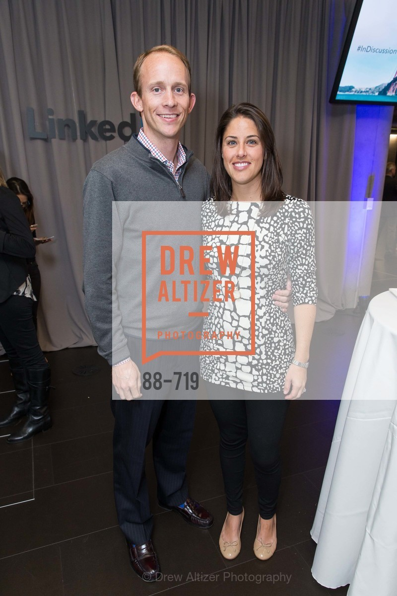 Tim Moffet, Sarah Moffet, THE LINKEDIN Discussion Series featuring Jack and Suzy Welch with LinkedIn Executive Editor Dan Roth, US, May 11th, 2015,Drew Altizer, Drew Altizer Photography, full-service agency, private events, San Francisco photographer, photographer california