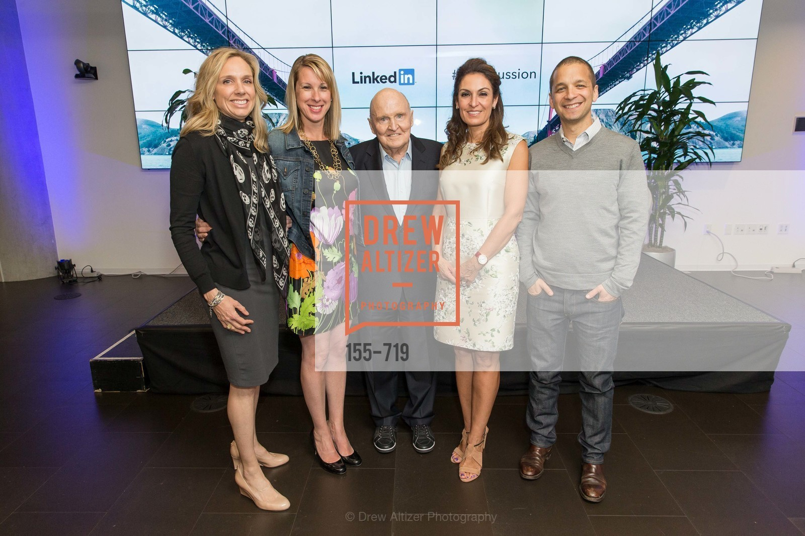 Catherine Fisher, Shannon Stubo, Jack Welch, Suzy Welch, Dan Roth, THE LINKEDIN Discussion Series featuring Jack and Suzy Welch with LinkedIn Executive Editor Dan Roth, US, May 11th, 2015,Drew Altizer, Drew Altizer Photography, full-service agency, private events, San Francisco photographer, photographer california