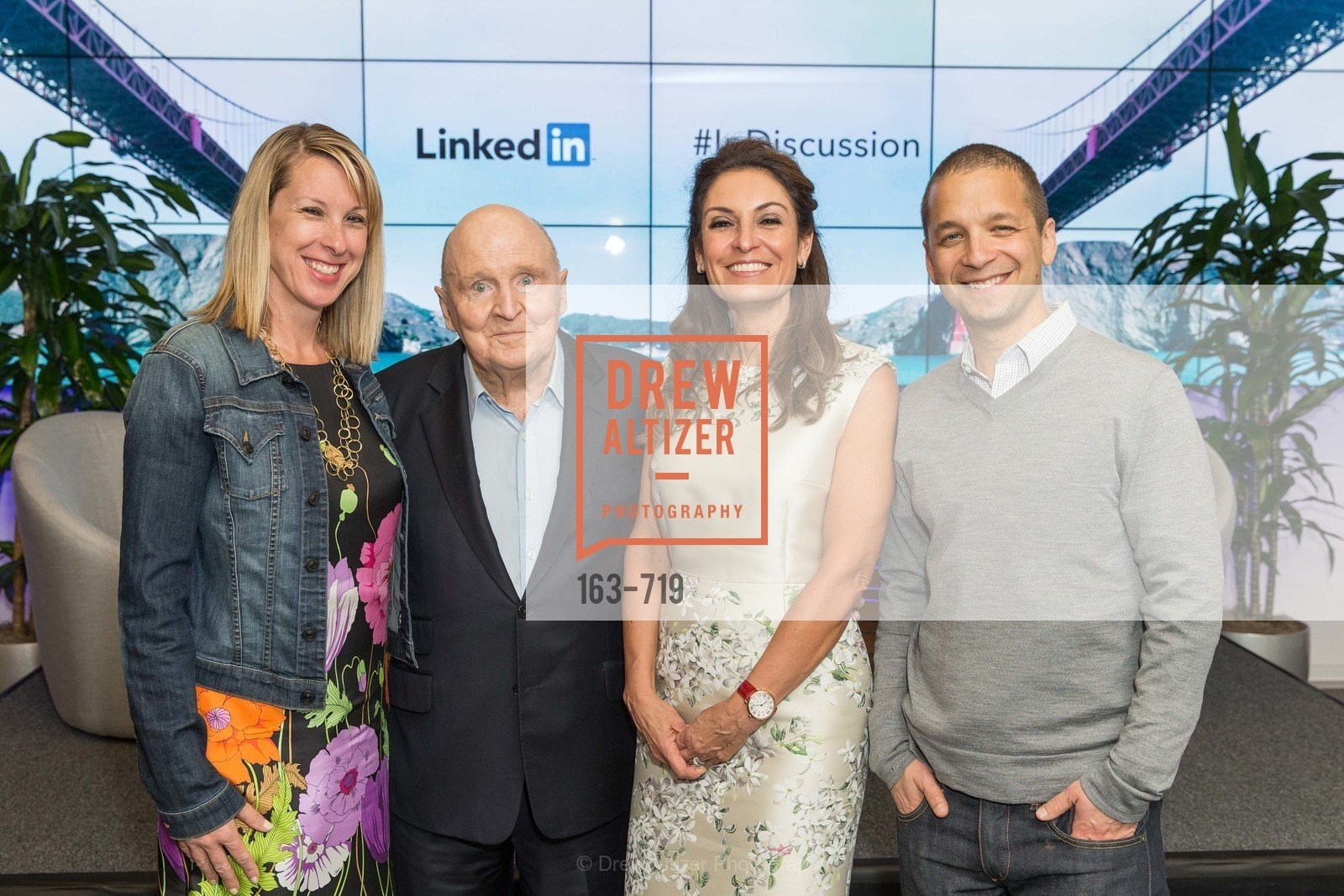 Shannon Stubo, Jack Welch, Suzy Welch, Dan Roth, THE LINKEDIN Discussion Series featuring Jack and Suzy Welch with LinkedIn Executive Editor Dan Roth, US, May 11th, 2015,Drew Altizer, Drew Altizer Photography, full-service agency, private events, San Francisco photographer, photographer california